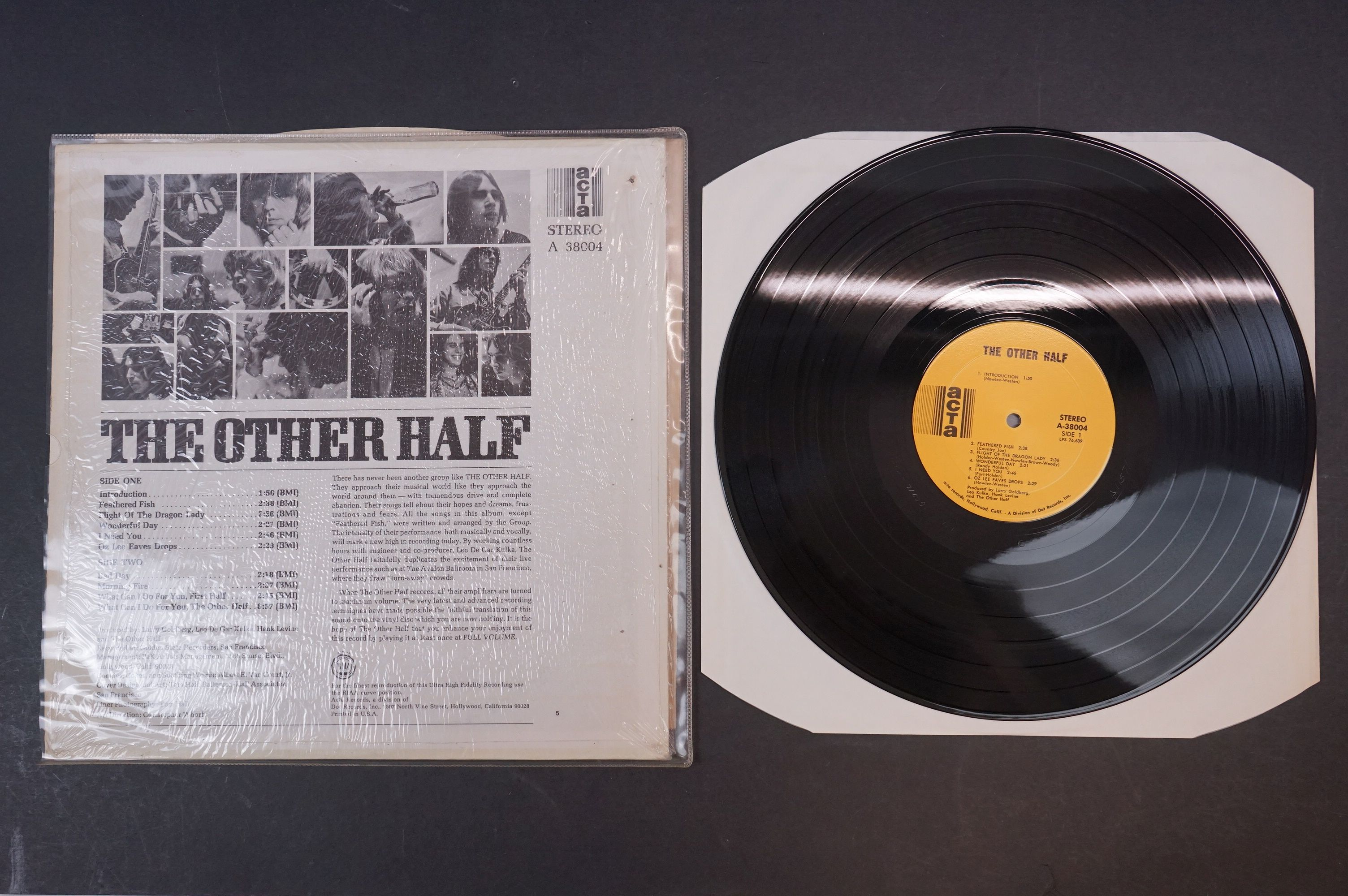 Vinyl - Psych / Garage - The Other Half - The Other Half, 1968 US, Acta Records, Randy Holden?s - Image 3 of 3