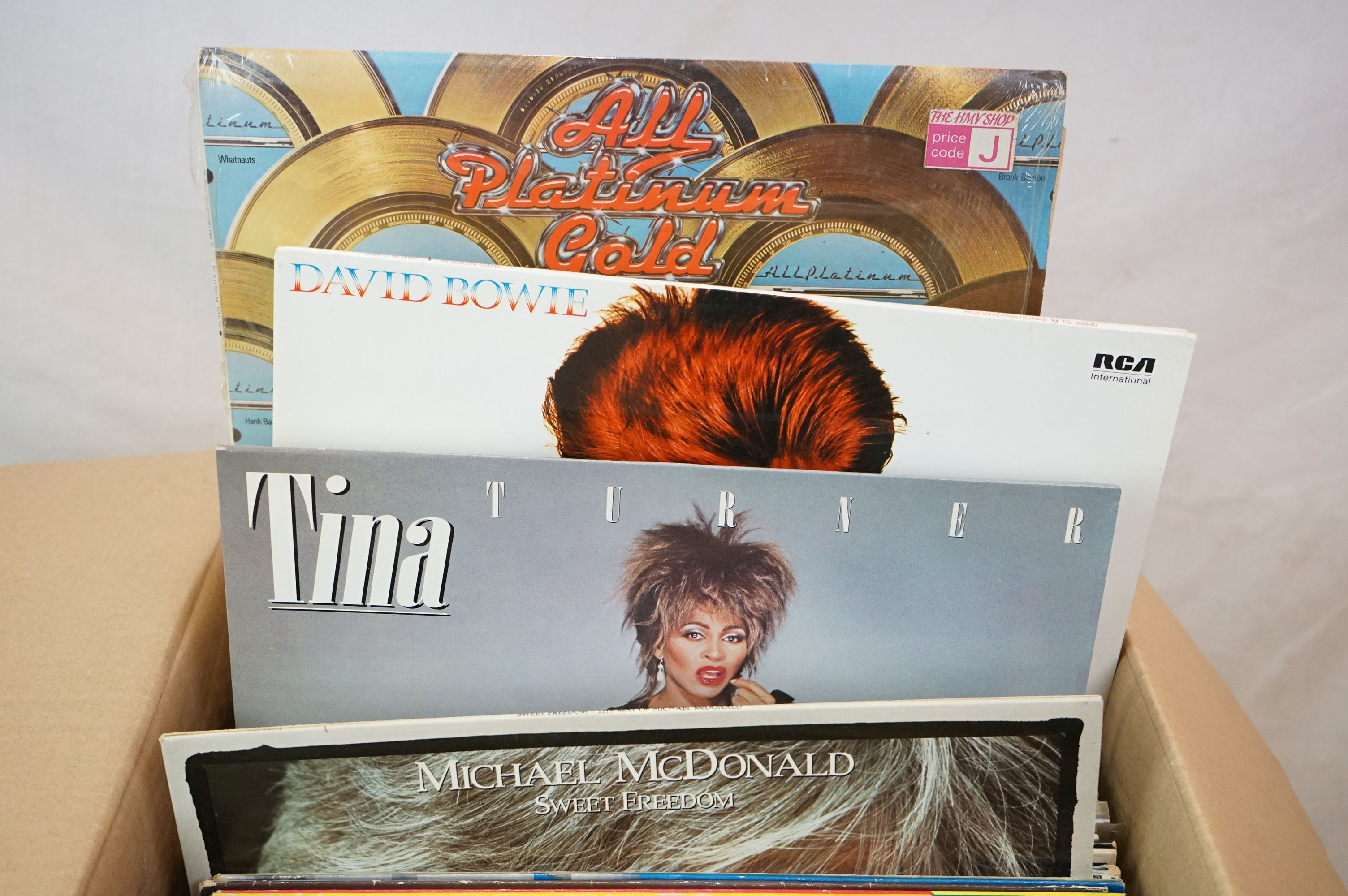 """Vinyl - Rock & Pop collection of over 60 LP's plus some 12"""" singles including Elvis Costello, Rickie - Image 3 of 4"""