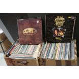 Vinyl - Around 230 LPs featuring Country and other genres, condition varies (two boxes)