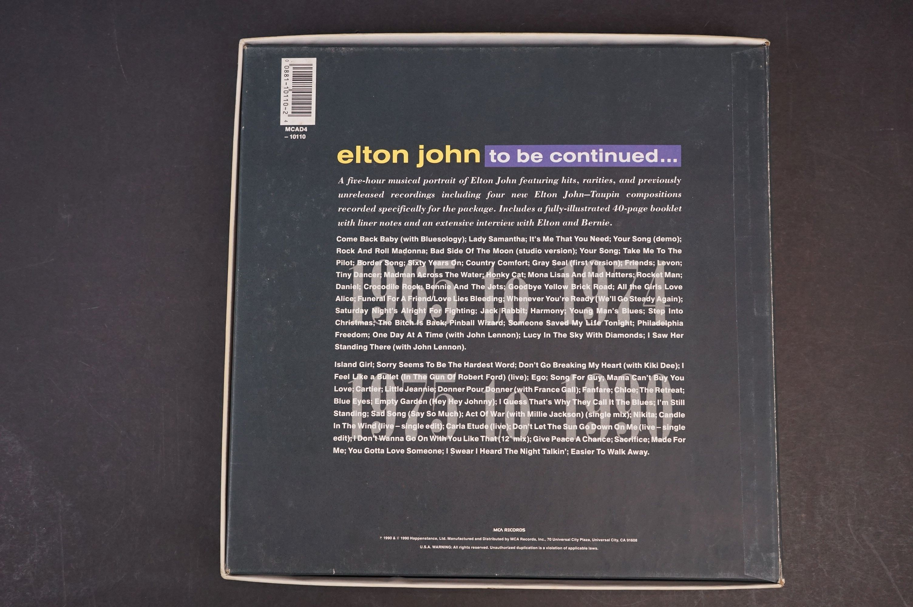 CD - Elton John To Be Continued Box Set MCAD4 - 10110 complete and vg - Image 6 of 6
