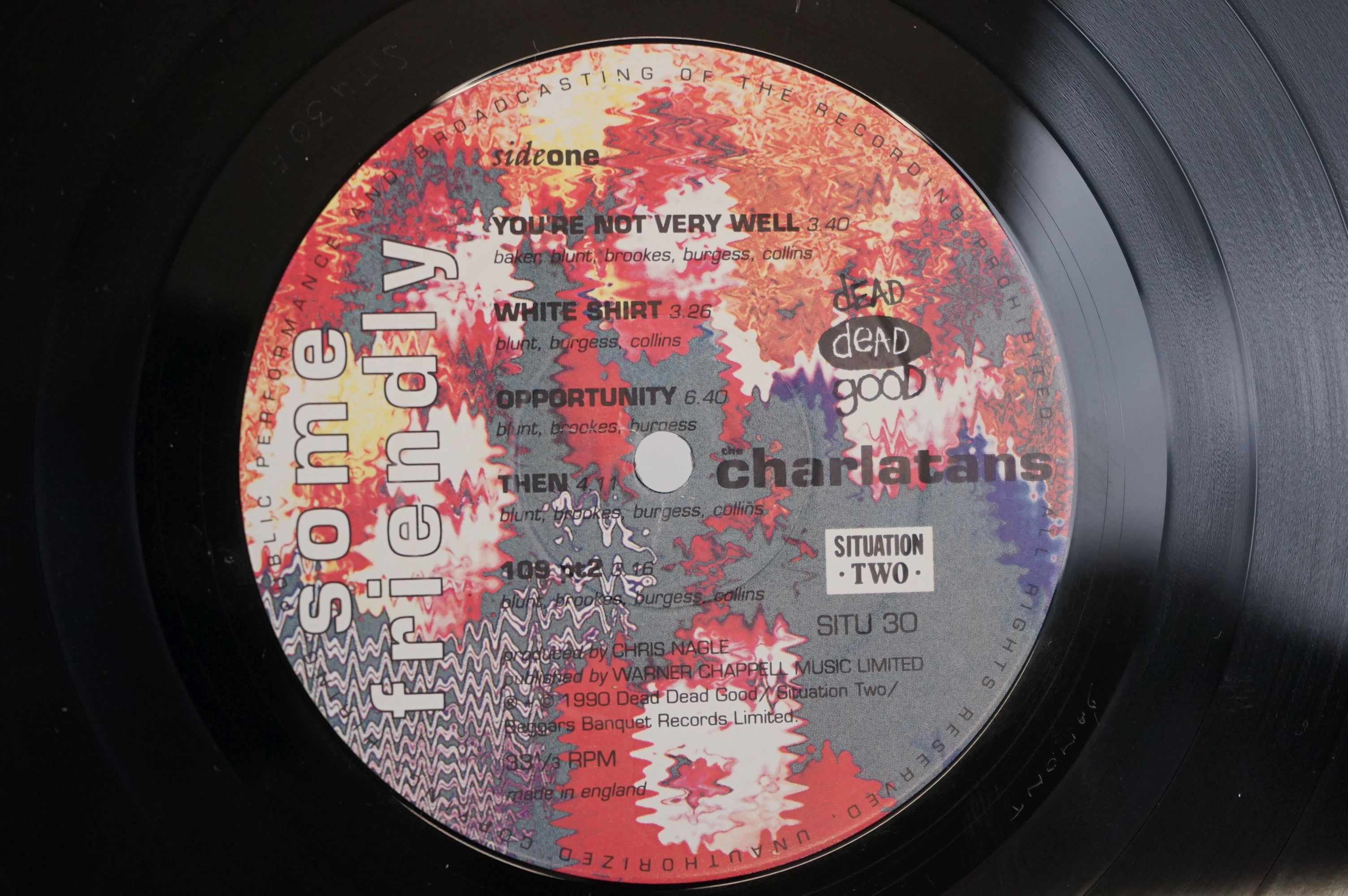 Vinyl - The Charlatans Some Friendly LP with td edn white sleeve, with inner sleeve, vinyl ex, - Image 5 of 9