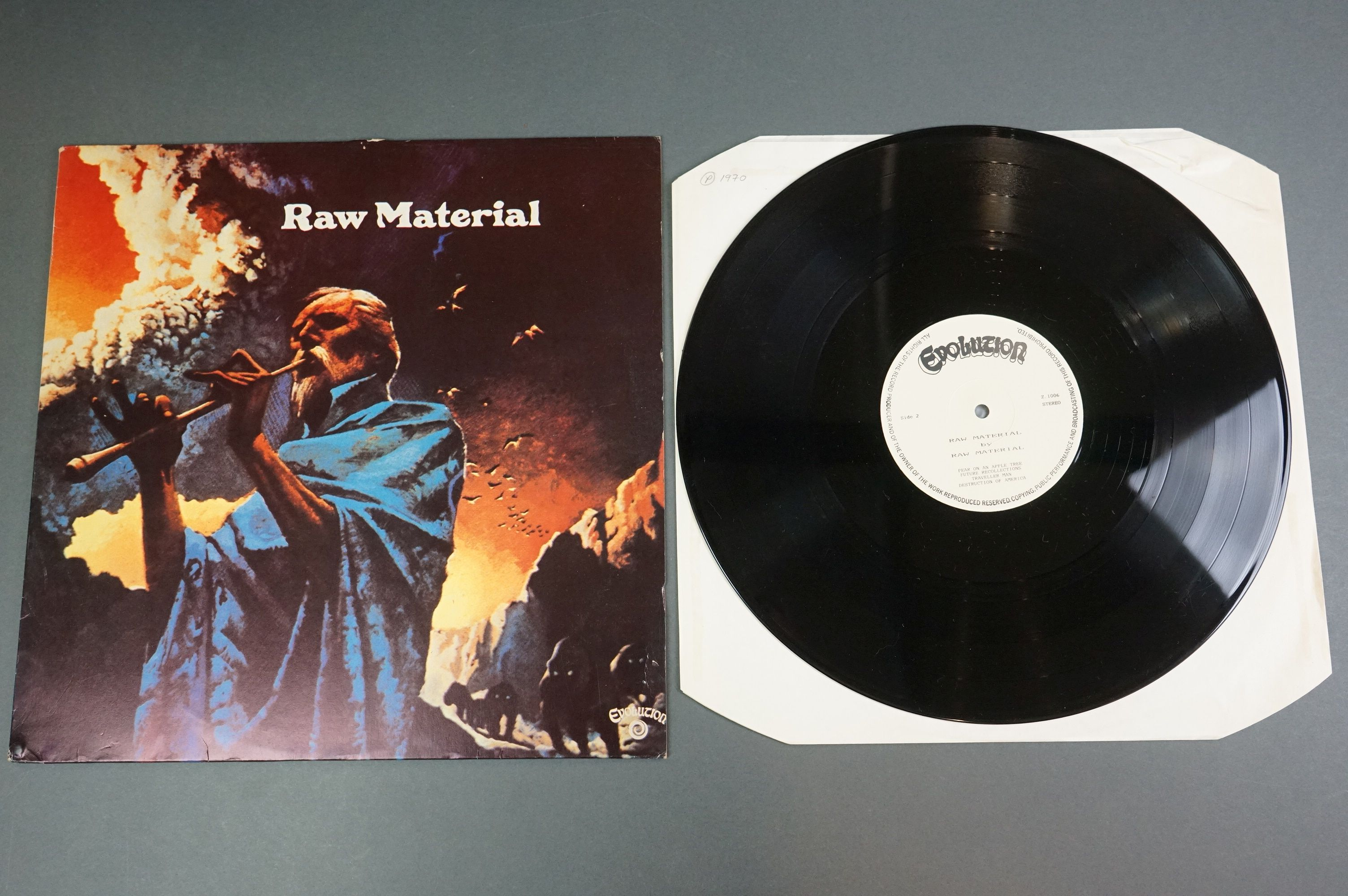 Vinyl - Two unofficial Raw Materials release LPs to include Time Is (NE8) and self titled (Z1006), - Image 5 of 6