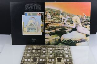 Vinyl - Three Led Zeppelin LPs to include Physical Graffiti SSK89400, The Song Remains The Same