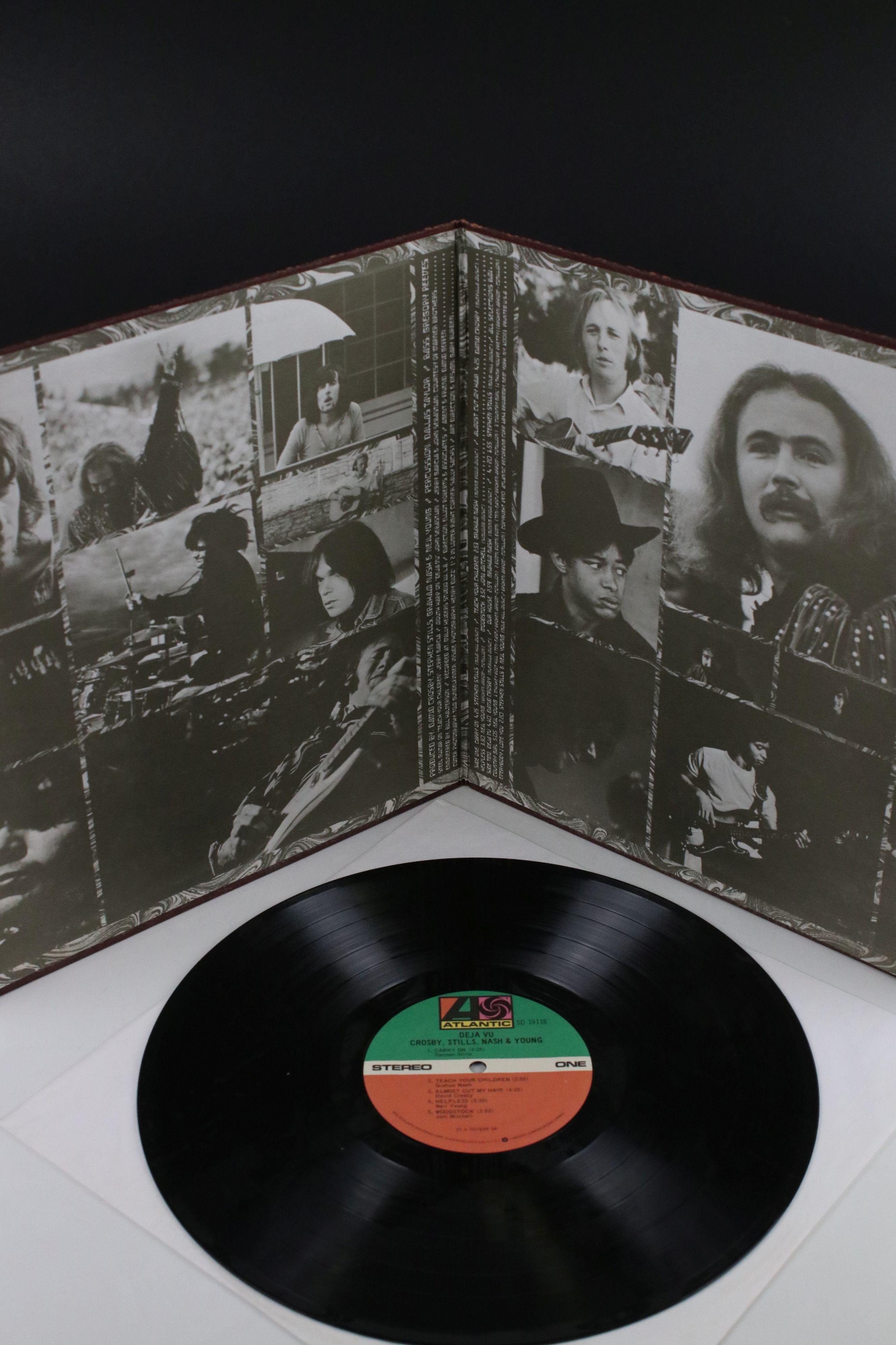 Signed Vinyl - Crosby Stills Nash & Young Deja Vu LP US pressing on Atlantic SD19118, signed by - Image 2 of 4
