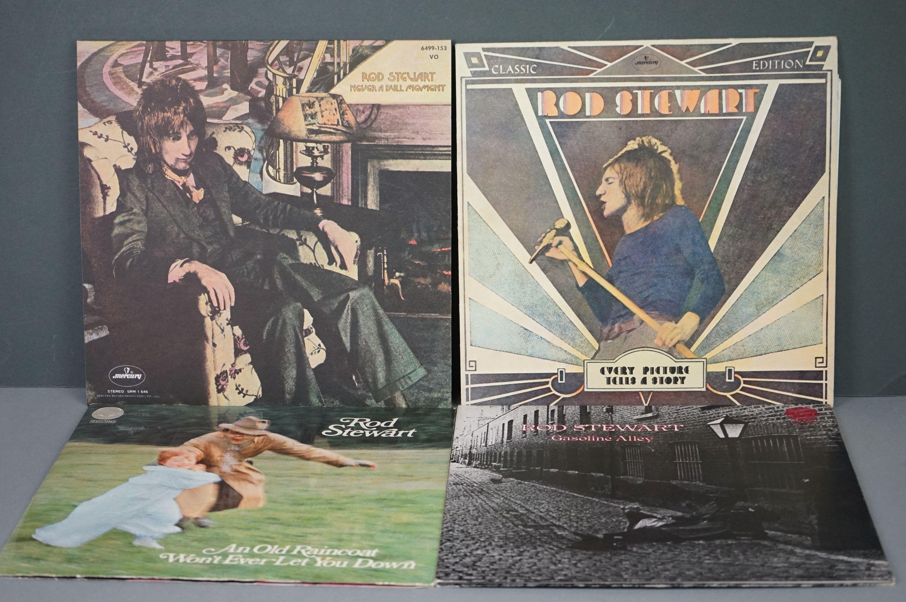 Vinyl - Rod Stewart 4 LP's to include An Old Raincoat Won't Ever Let You Down (Vertigo VO4) gatefold