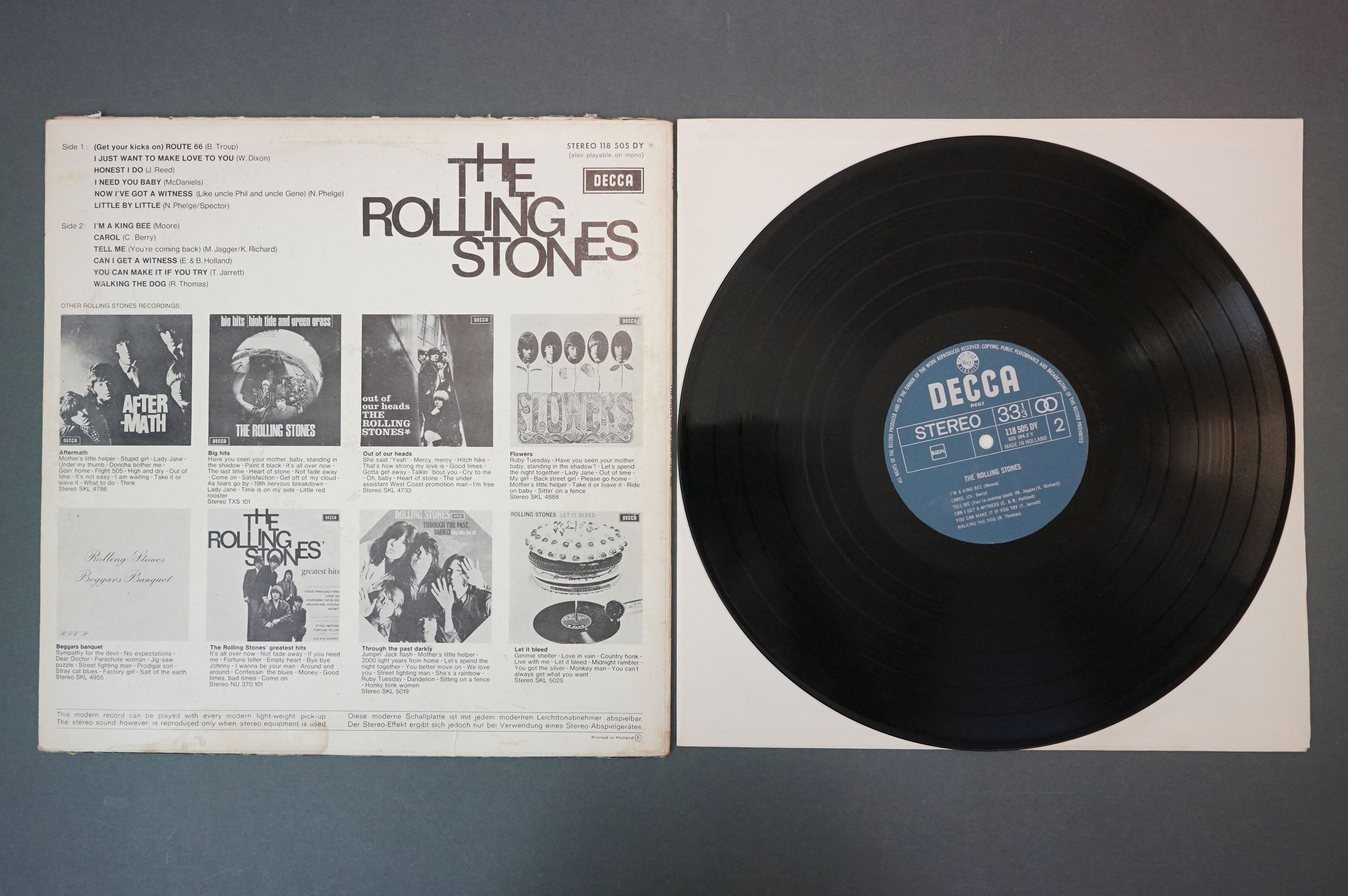 Vinyl - Rolling Stones 3 LP's to include Rolled Gold and Self Titled (both Dutch pressings), and - Image 10 of 10