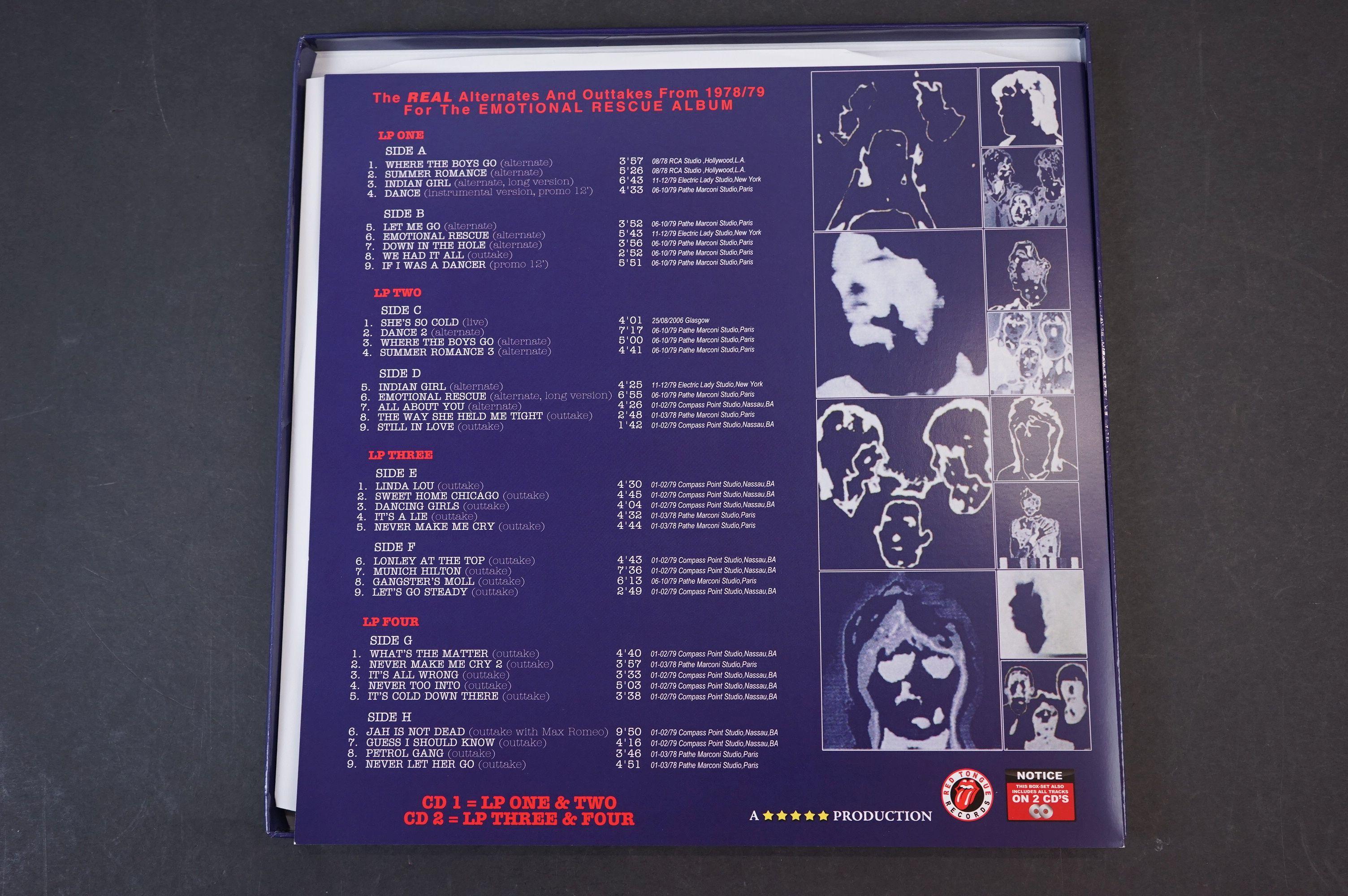 Vinyl - ltd edn The Real Alternate Album Rolling Stones Emotional Rescue 4 LP / 2 CD Box Set, - Image 5 of 12
