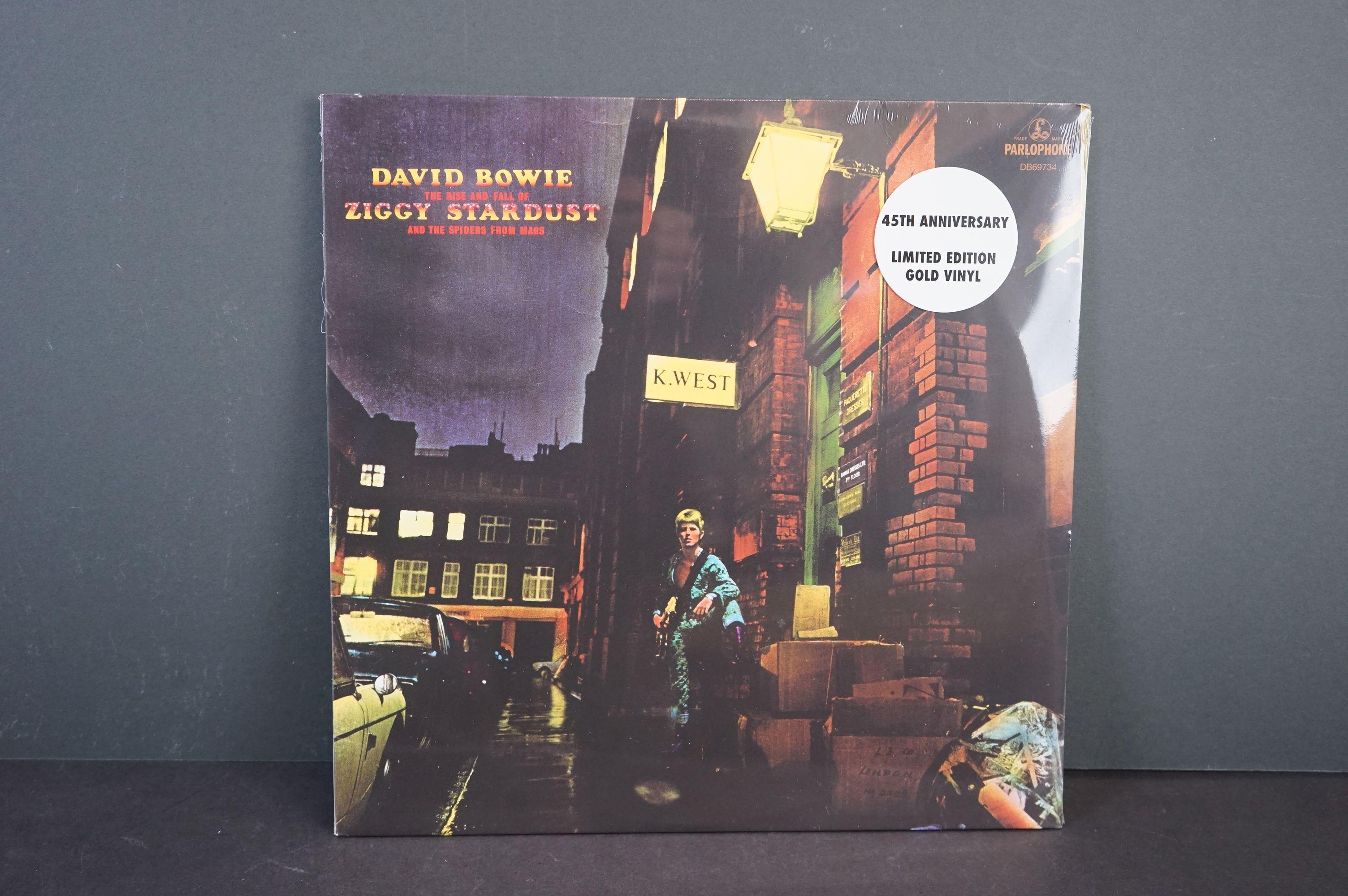 Vinyl - David Bowie Ziggy Stardust and the Spiders from Mars 45th Anniversary ltd edn gold vinyl LP,