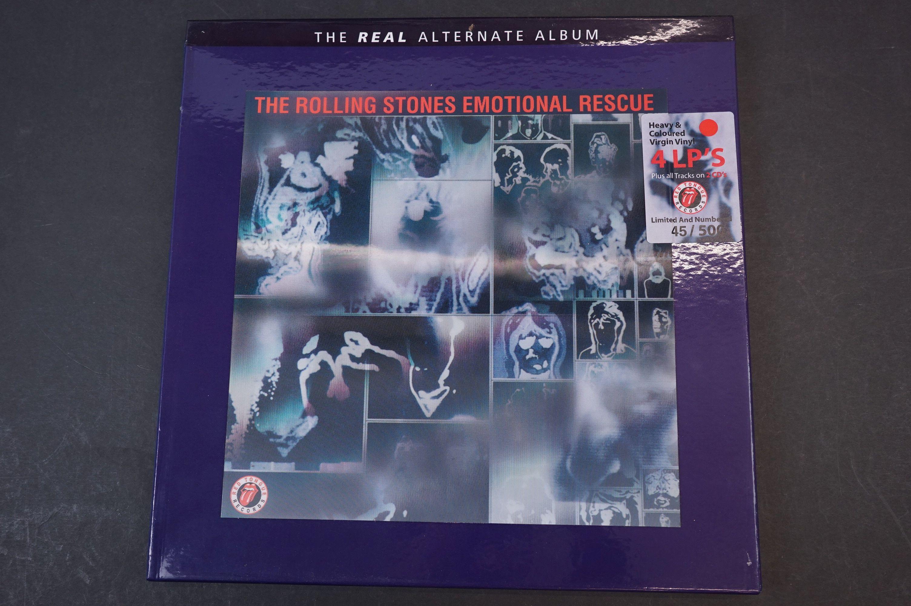 Vinyl - ltd edn The Real Alternate Album Rolling Stones Emotional Rescue 4 LP / 2 CD Box Set,