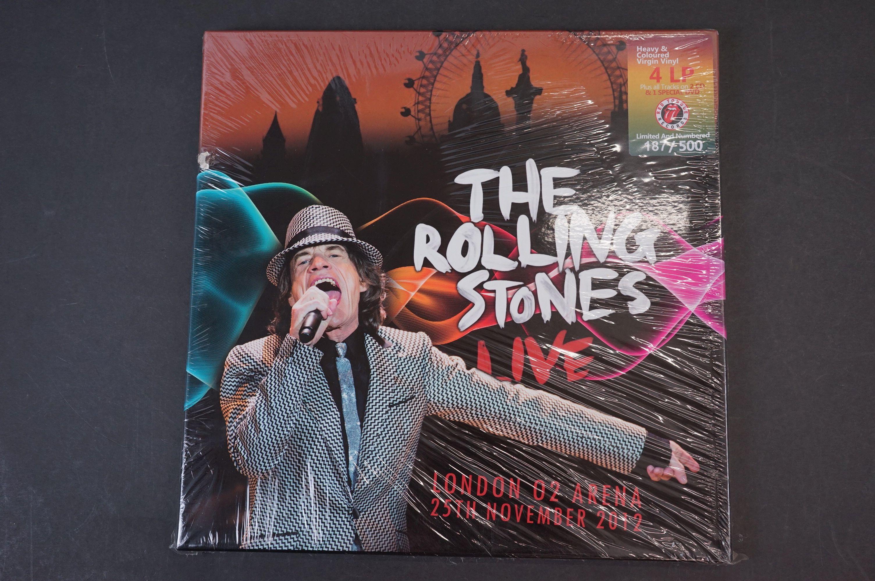 Vinyl - ltd edn The Rolling Stones London 02 Arena 4 LP / 2 CD / 1 DVD Box Set RTR028, heavy