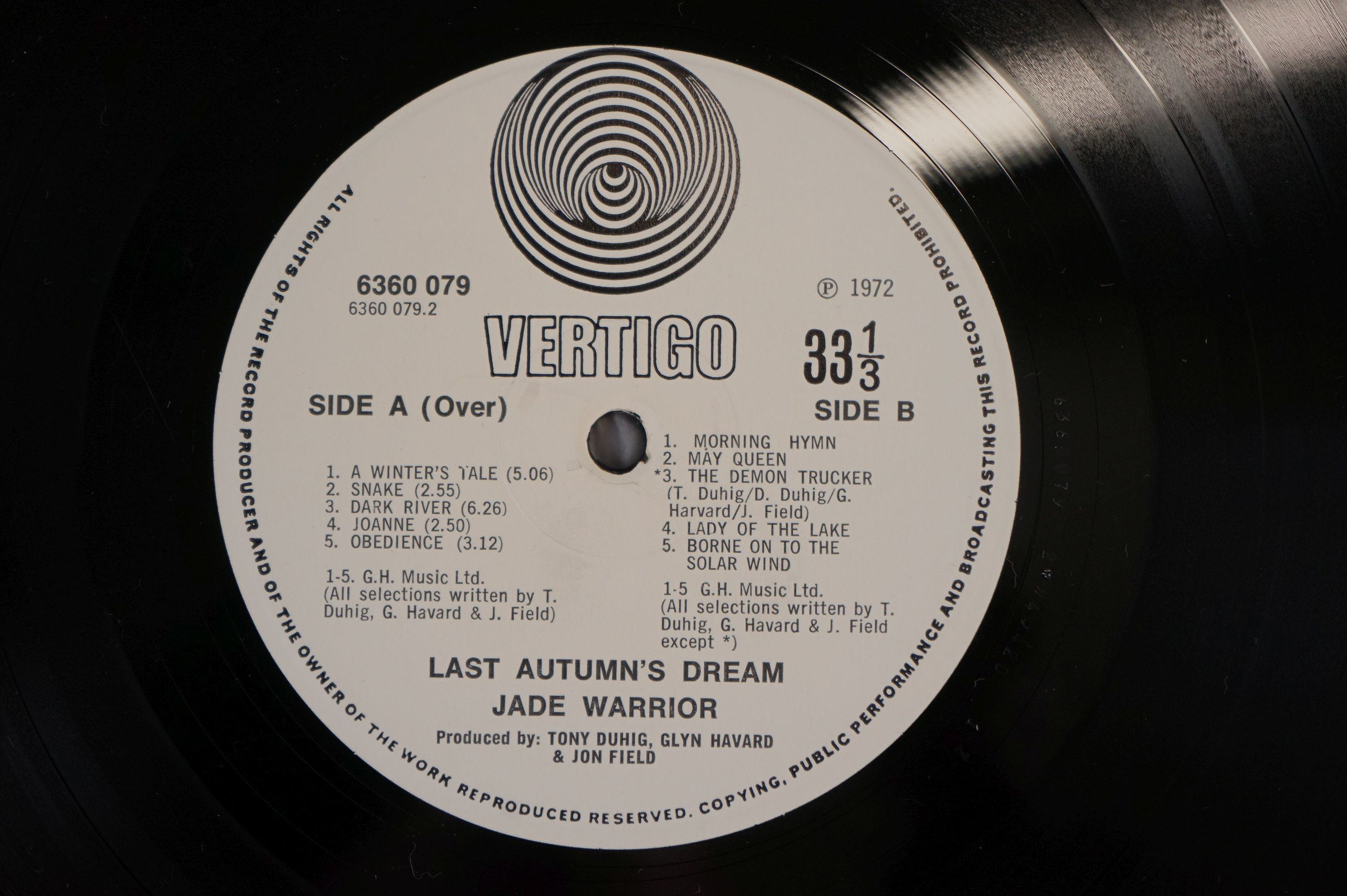 Vinyl - Four Jade Warrior LPs to include Last Autumn Dream LP on Vertigo Deluxe 6360079 gatefold - Image 9 of 9