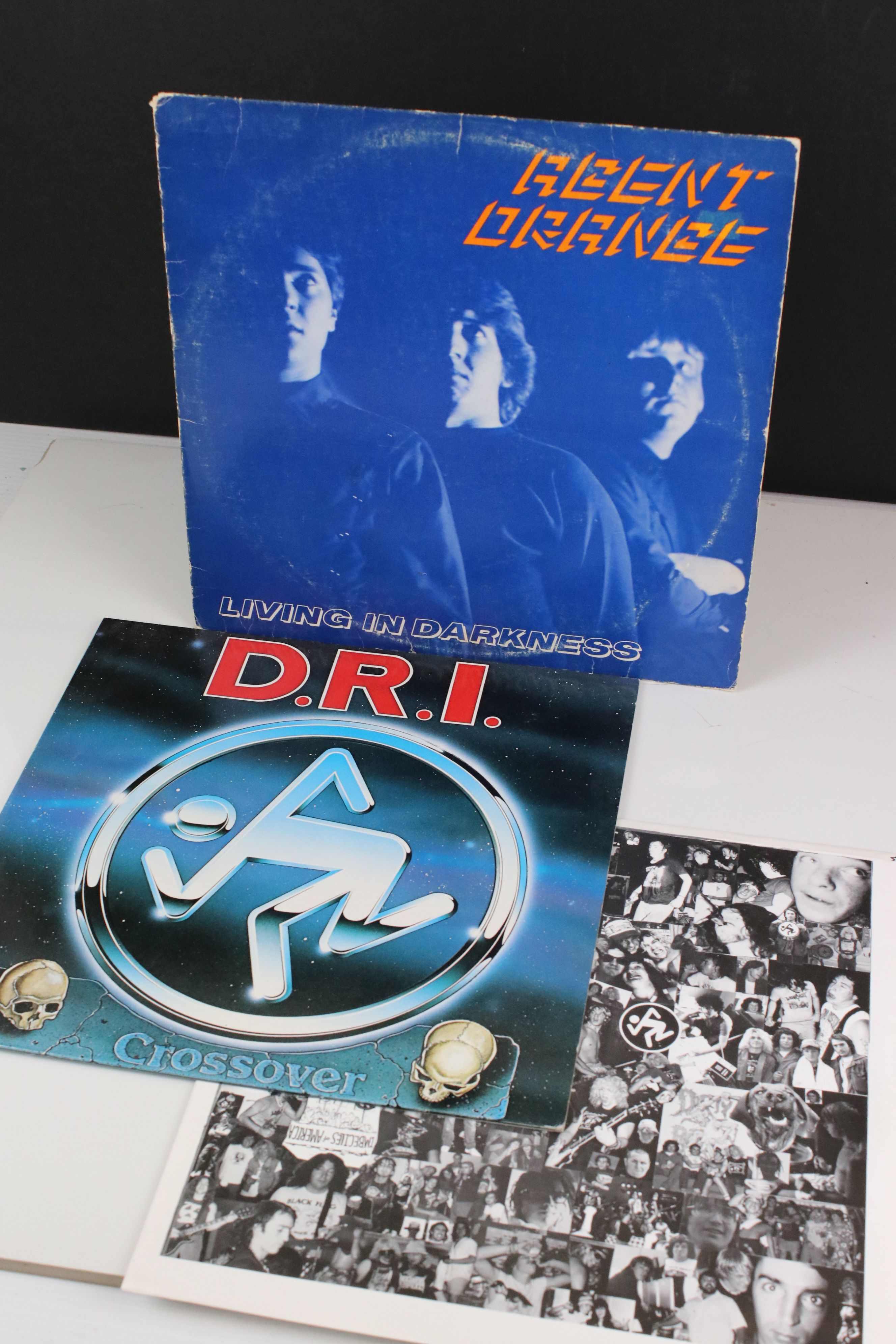 Vinyl - Punk / Thrash - Two LPs to include Agent Orange Living In Darkness 1981 repress and Dirty