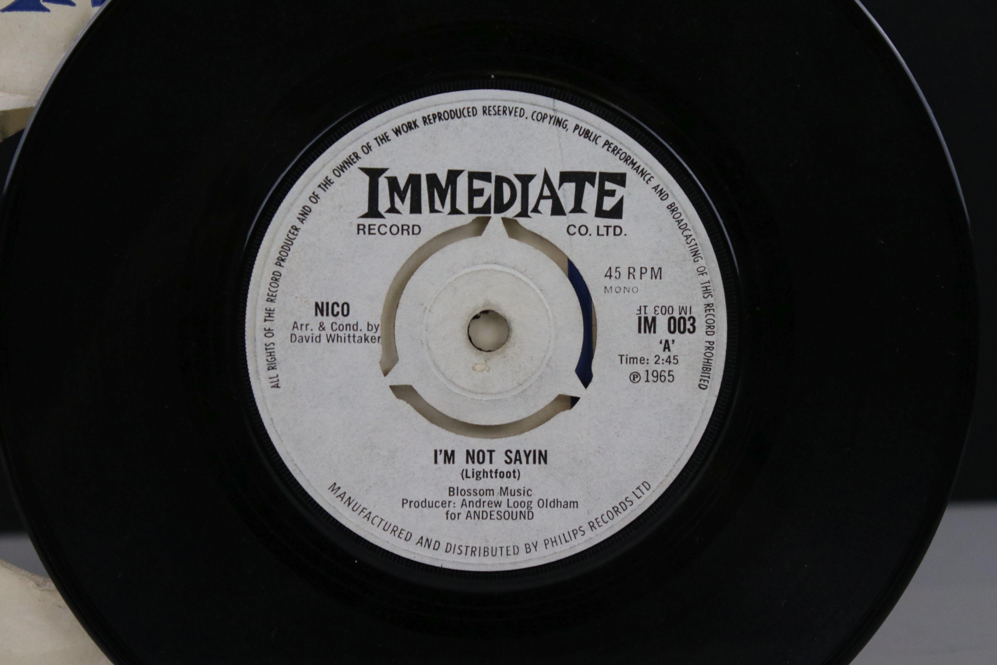 Vinyl - Nico I'm Not Sayin / The Last Mile 45 on Immediate IM003 in company sleeve, vg - Image 2 of 5