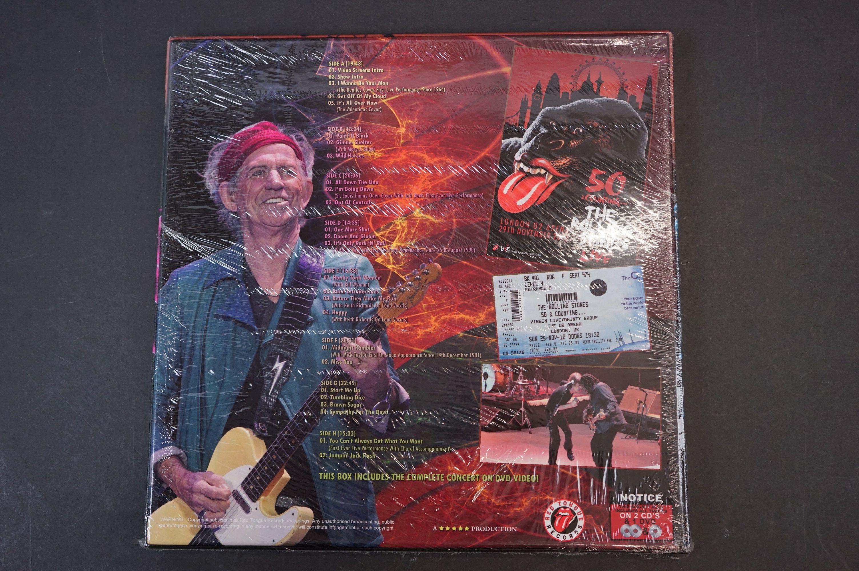 Vinyl - ltd edn The Rolling Stones London 02 Arena 4 LP / 2 CD / 1 DVD Box Set RTR028, heavy - Image 2 of 2