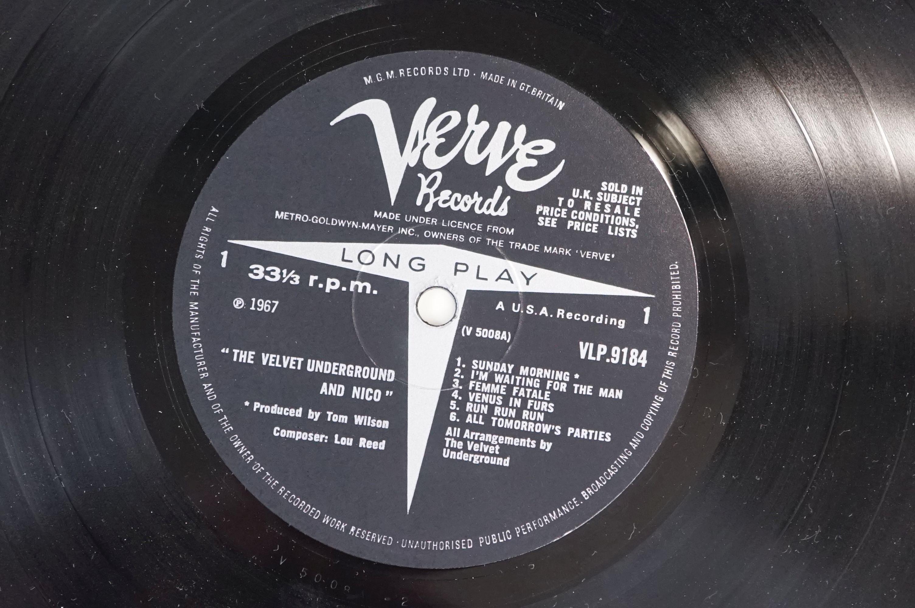 Vinyl - The Velvet Underground & Nico produced by Andy Warhol LP on Verve VLP9184 mono, non banana - Image 3 of 5