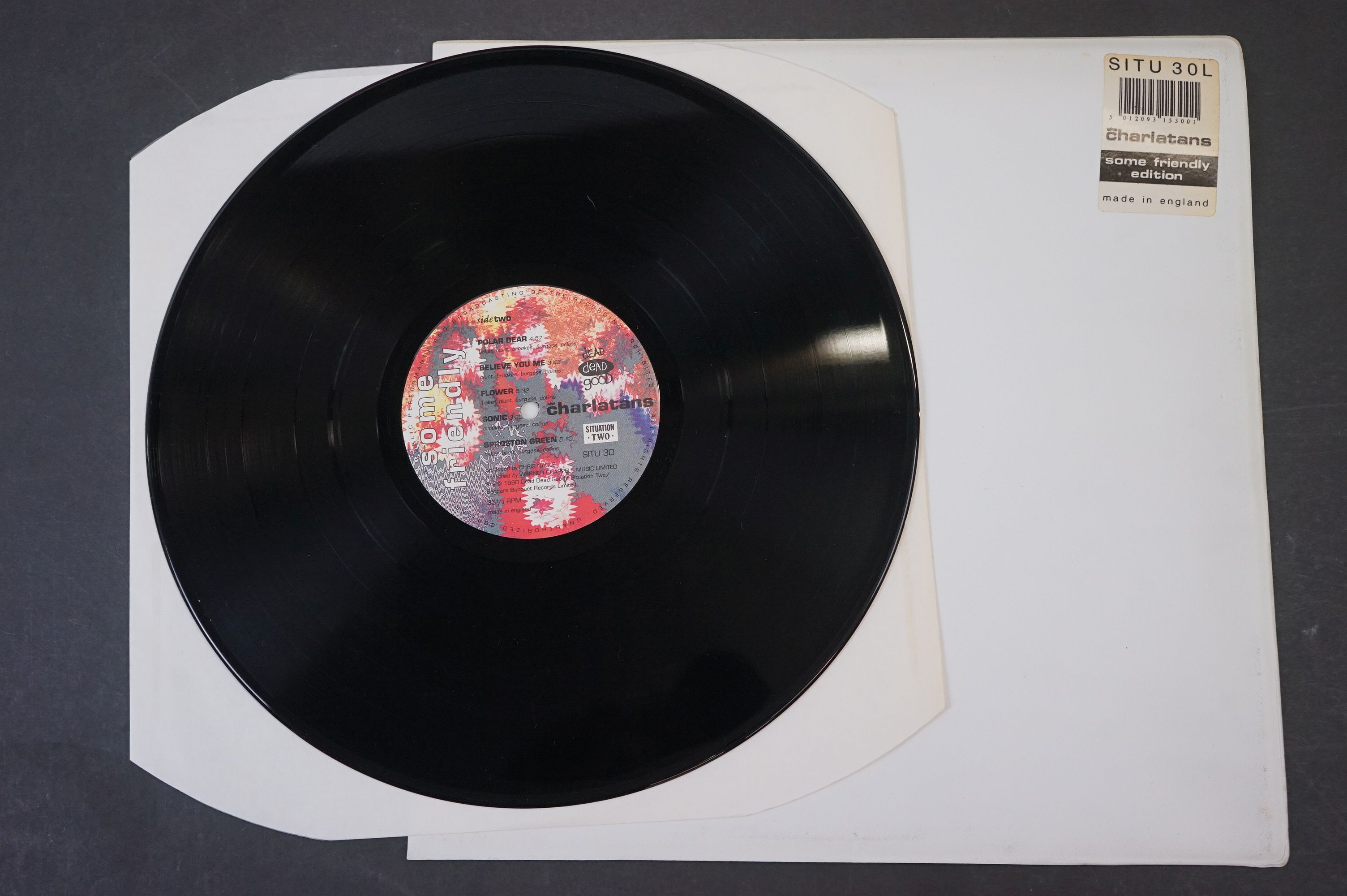 Vinyl - The Charlatans Some Friendly LP with td edn white sleeve, with inner sleeve, vinyl ex, - Image 3 of 9