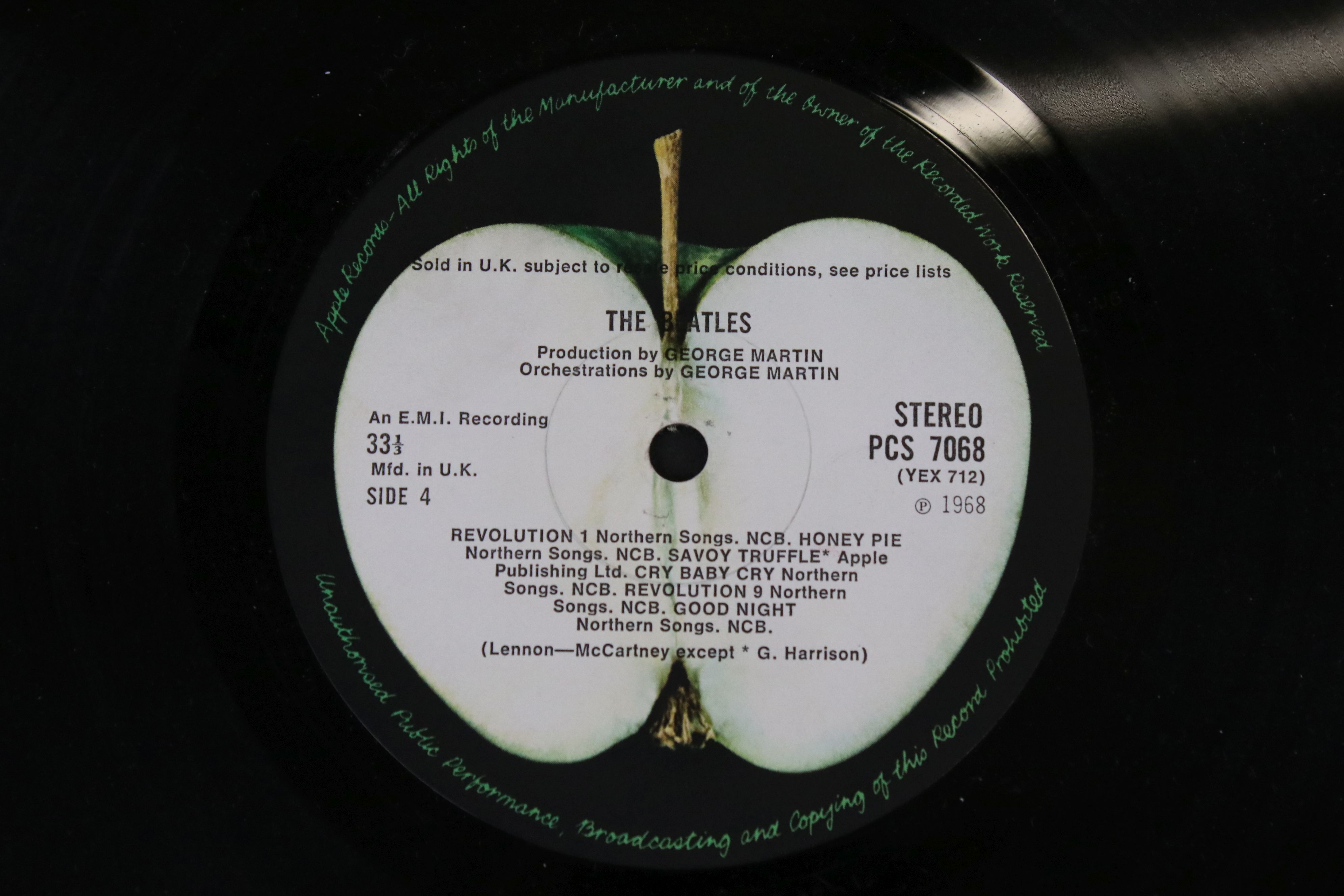 Vinyl - The Beatles White Album LP mono PMC7067-8, numbered 0001376 with 8 x coloured prints and - Image 5 of 10