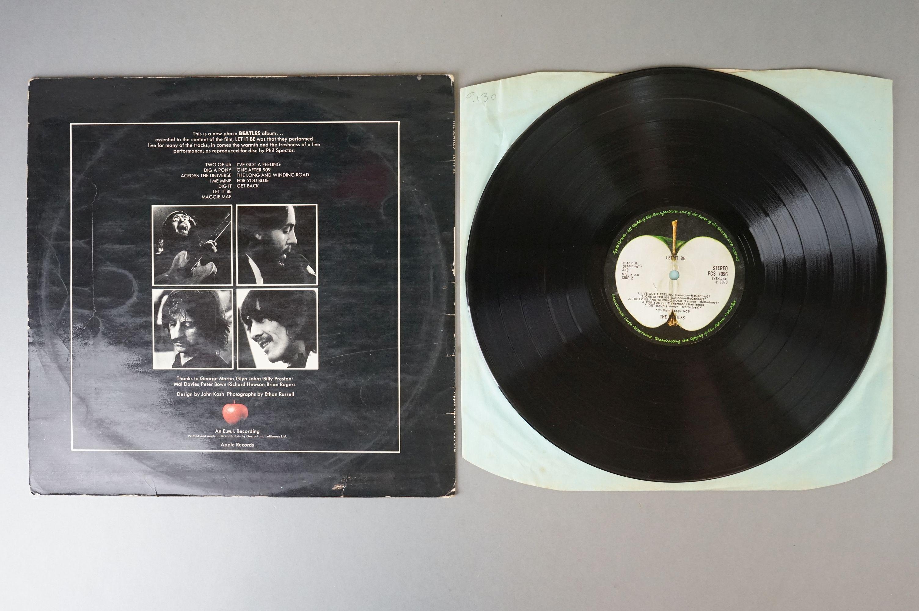 Vinyl - The Beatles & John Lennon 3 LP's to include Let It Be (PCS 7096) Stereo, incorrect inner, - Image 8 of 8