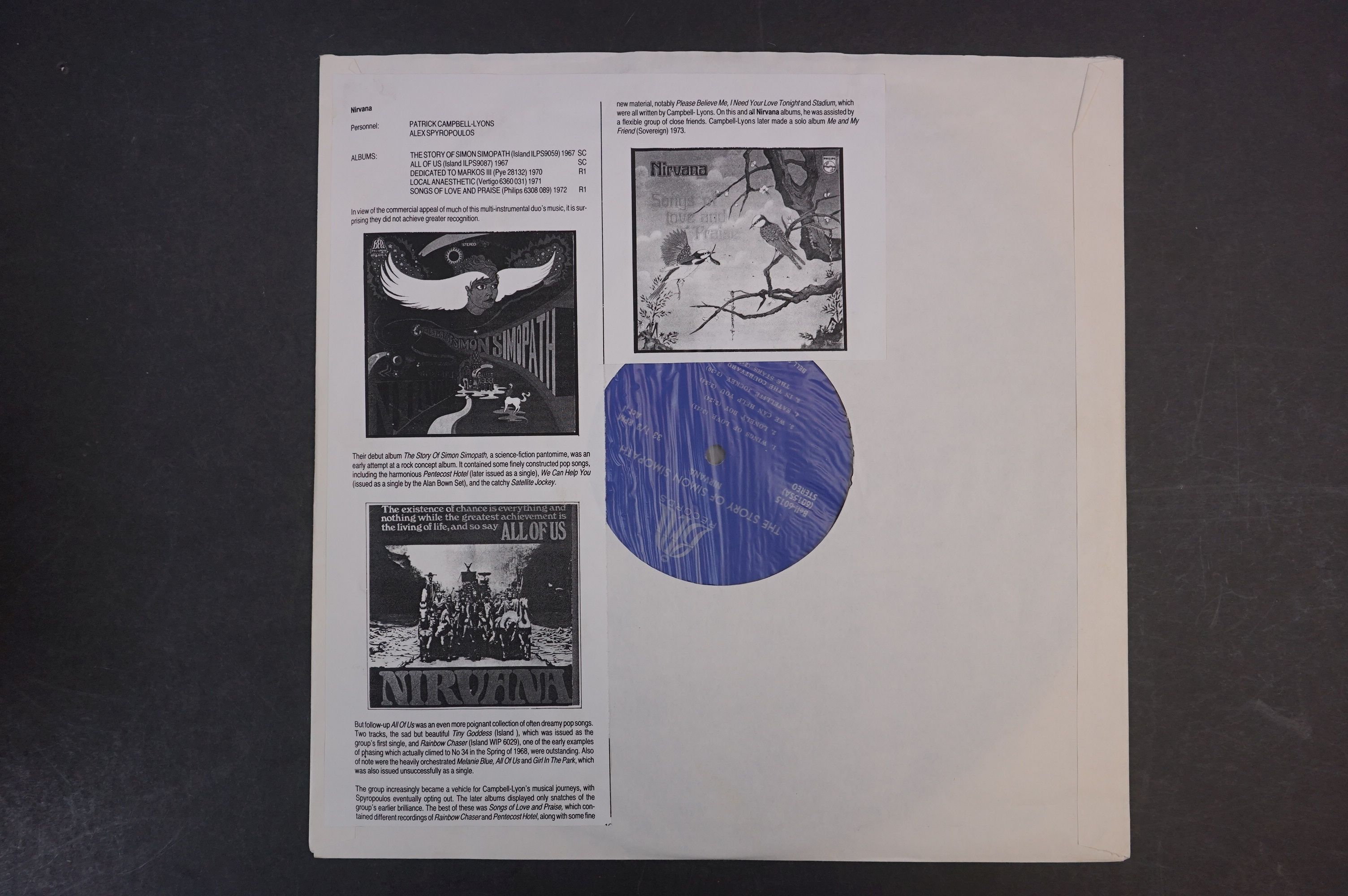 Vinyl - Two Nirvana LPs to include The Story of Simon Simopath LP on Bell Records 6015-S Stereo, - Image 6 of 13