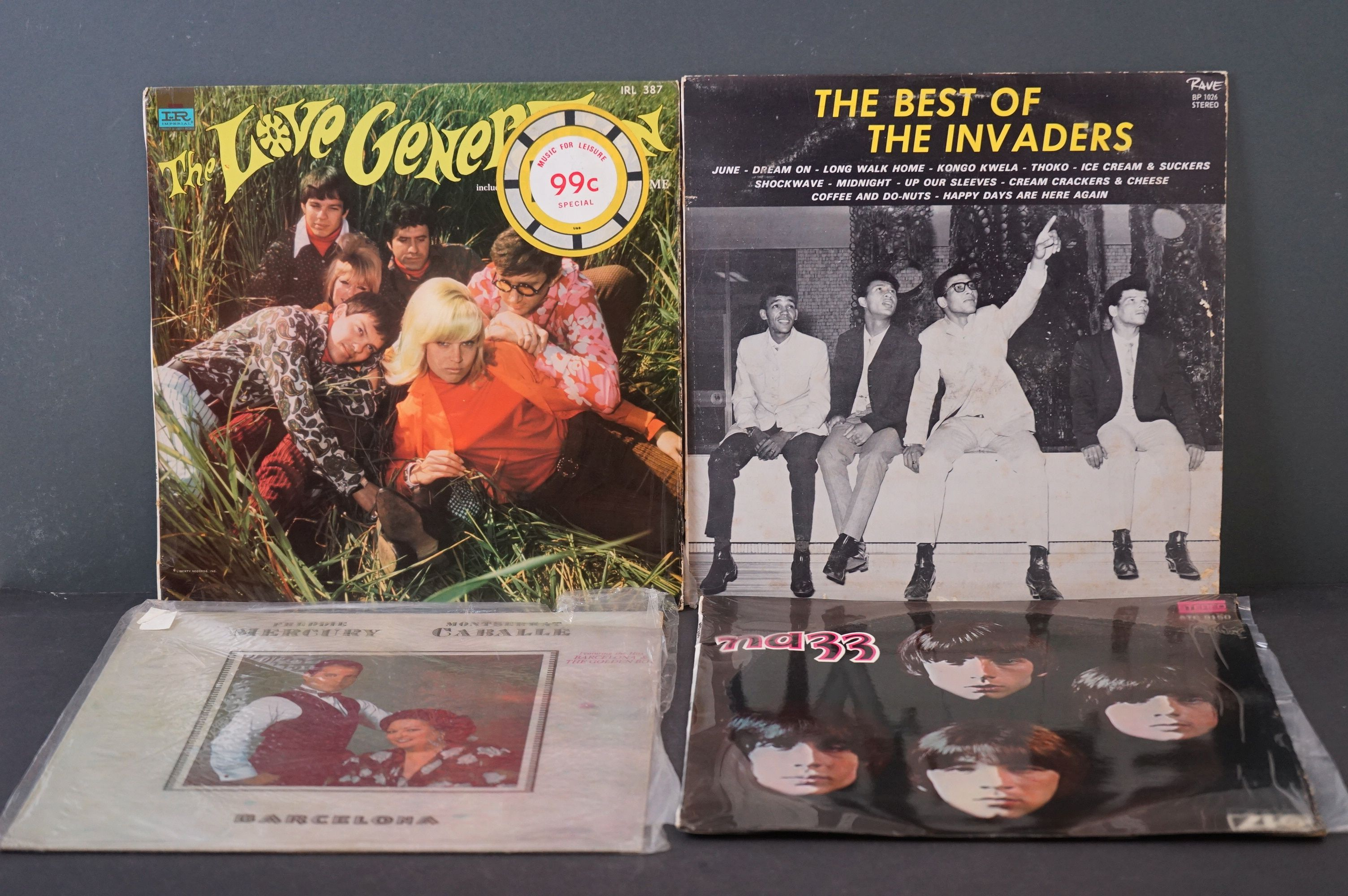 Vinyl - Psych / Rock / Garage - Four scarce African Pressing original albums to include Nazz -
