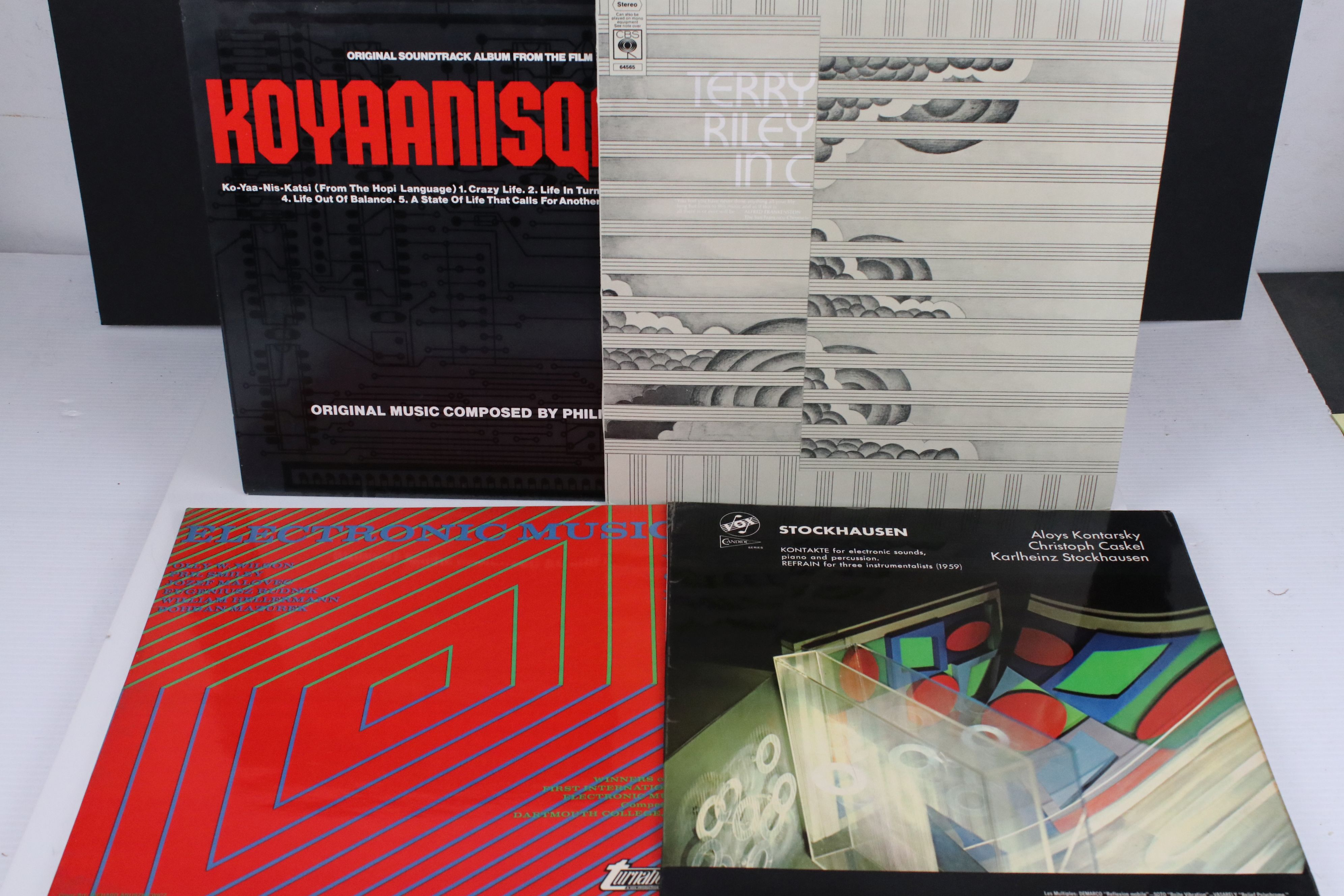 Vinyl - Four Electronic Classical LPs to include Terry Riley In C, Philip Glass Koyaanisqqatsi,