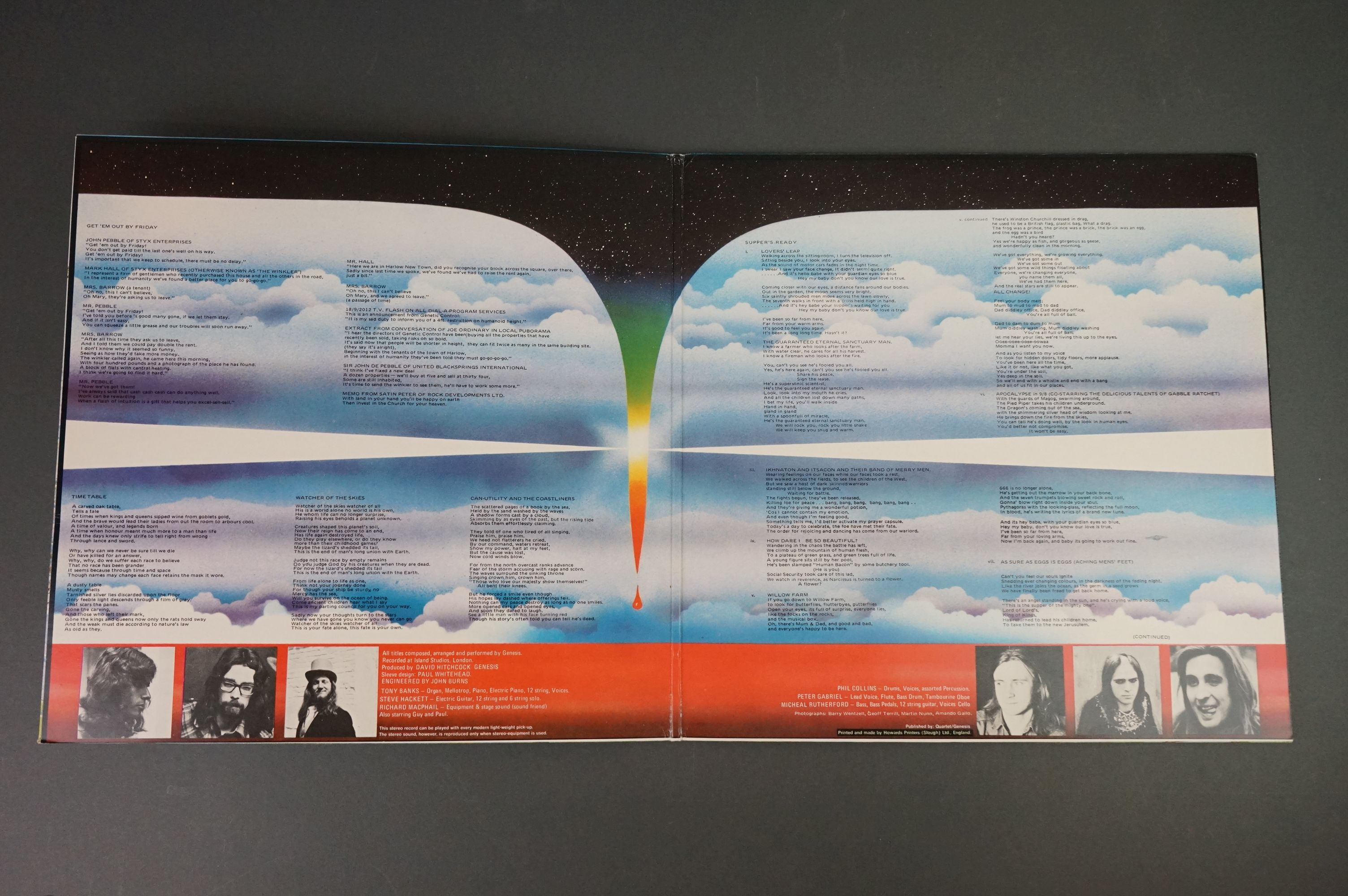 Vinyl - Five Genesis LPs to include Trespass (CAS1020), Nursery Cryme (CAS1052), Foxtrot ( - Image 7 of 9