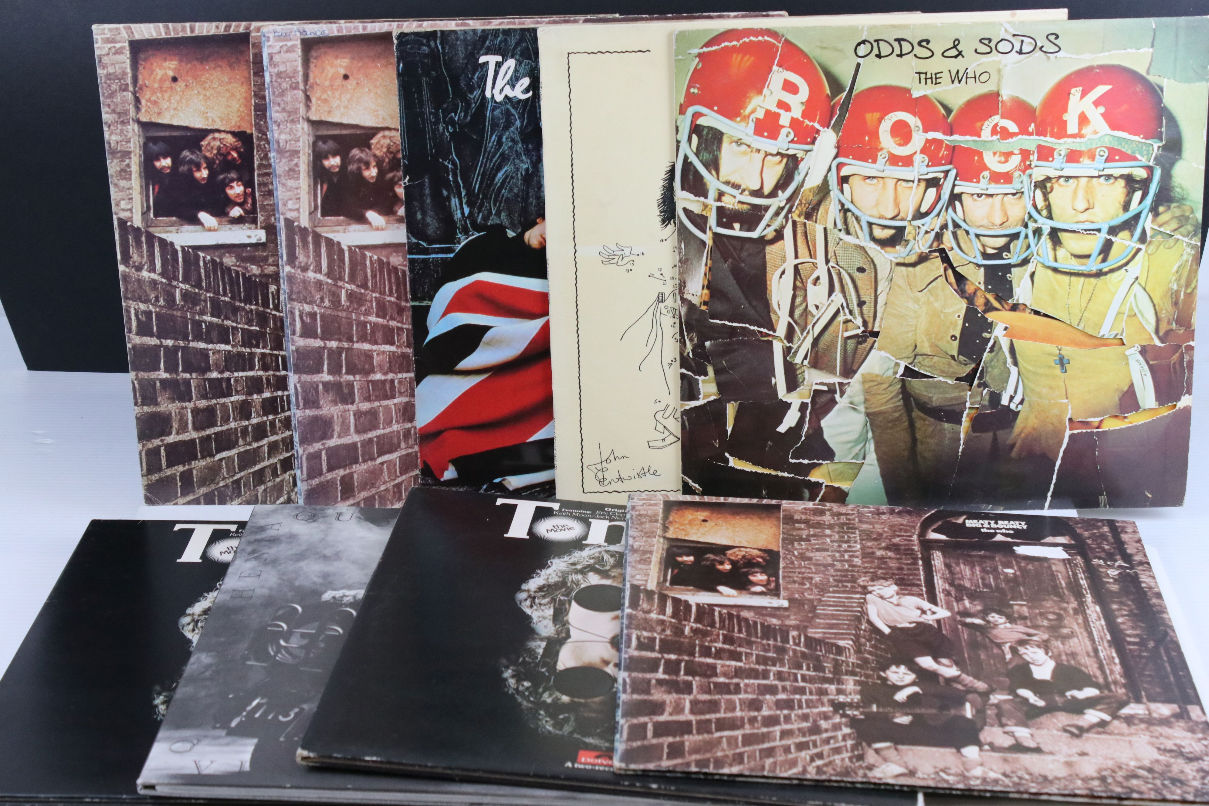 Vinyl - Nine The Who LPs to include Odds & Sods, By Numbers, The Kids Are Alright, 3 x Meaty Beaty