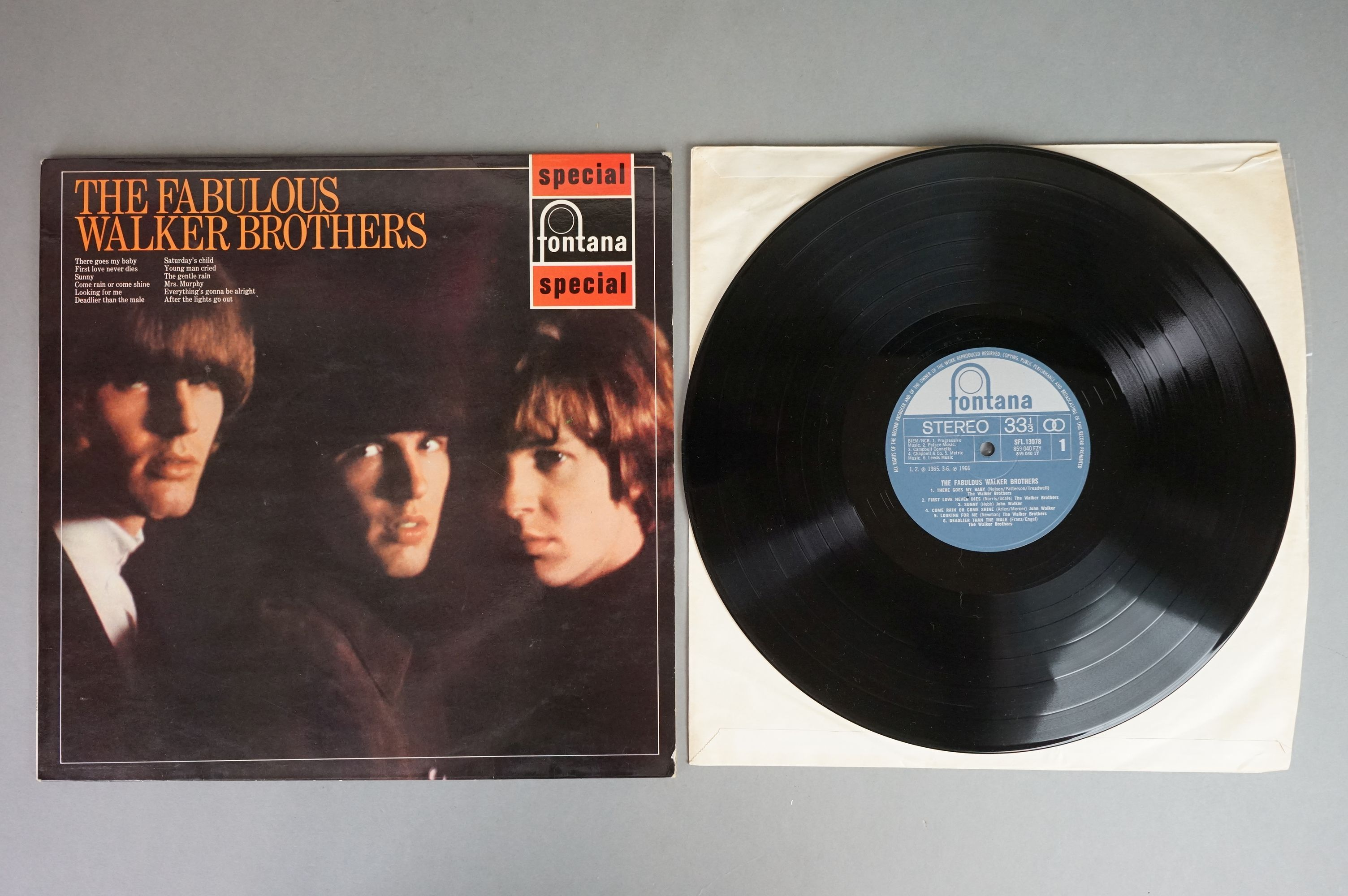Vinyl - Five Walker Brothers vinyl LP's to include Scott (Phillips Records BL 7816), The Fabulous - Image 3 of 10
