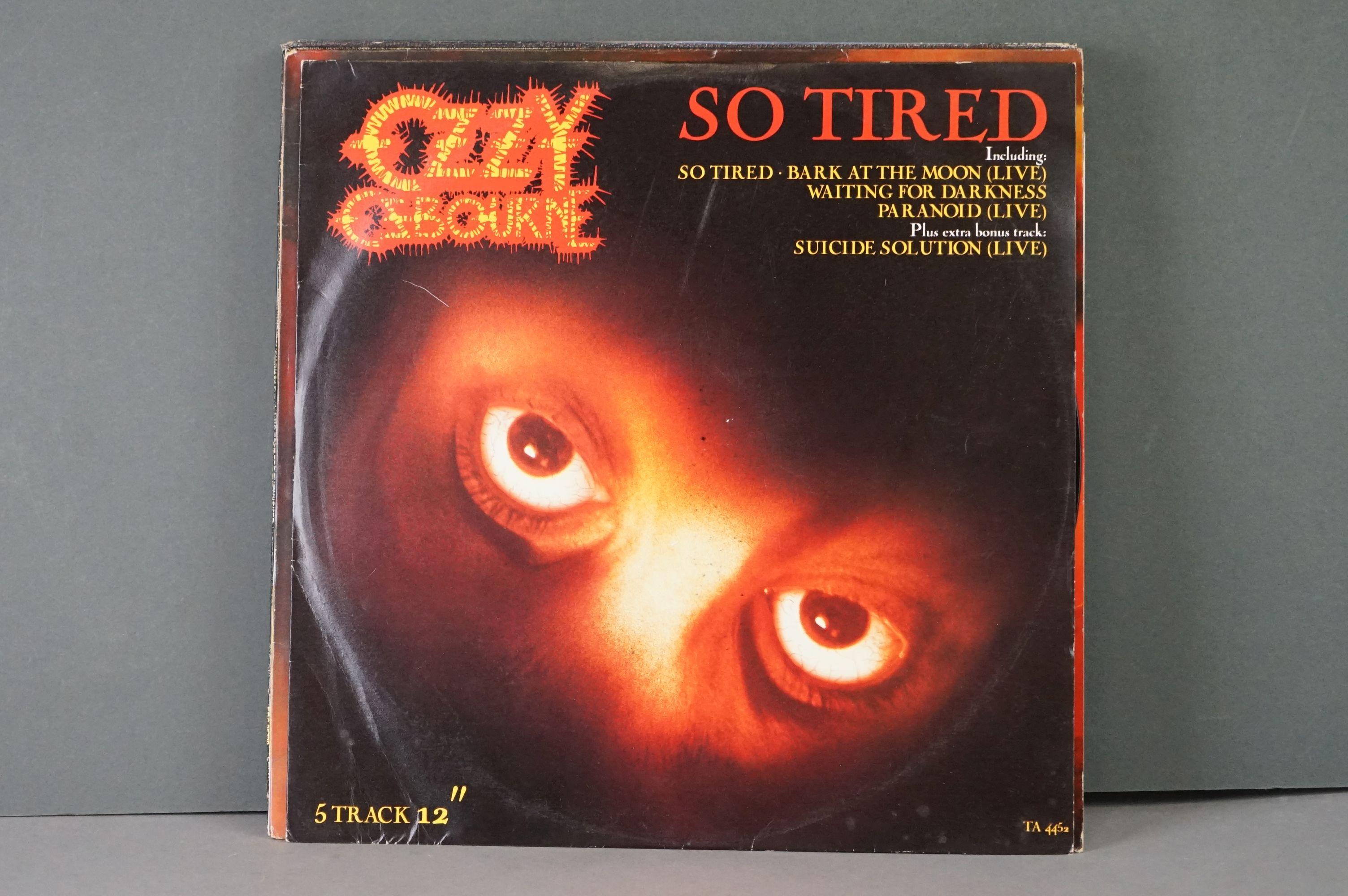 Vinyl - Six Ozzy Osbourne vinyl LP's to include The Ultimate Sin (Epic Records 26404), Live E.P. ( - Image 2 of 8