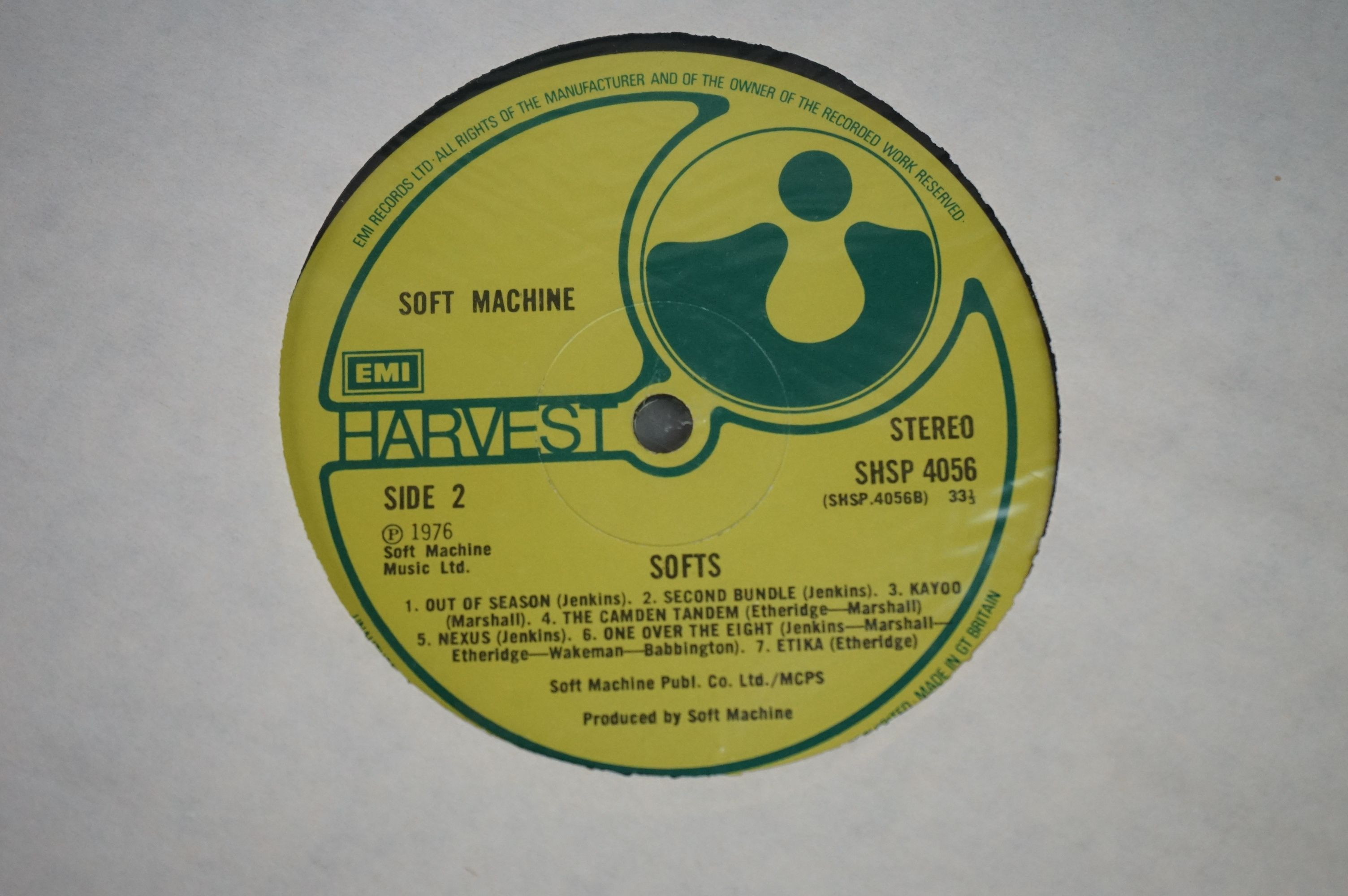 Vinyl - Two Soft Machine vinyl LP's to include Softs (EMI Records SHSP 4056), Volume Two (Probe - Image 8 of 9