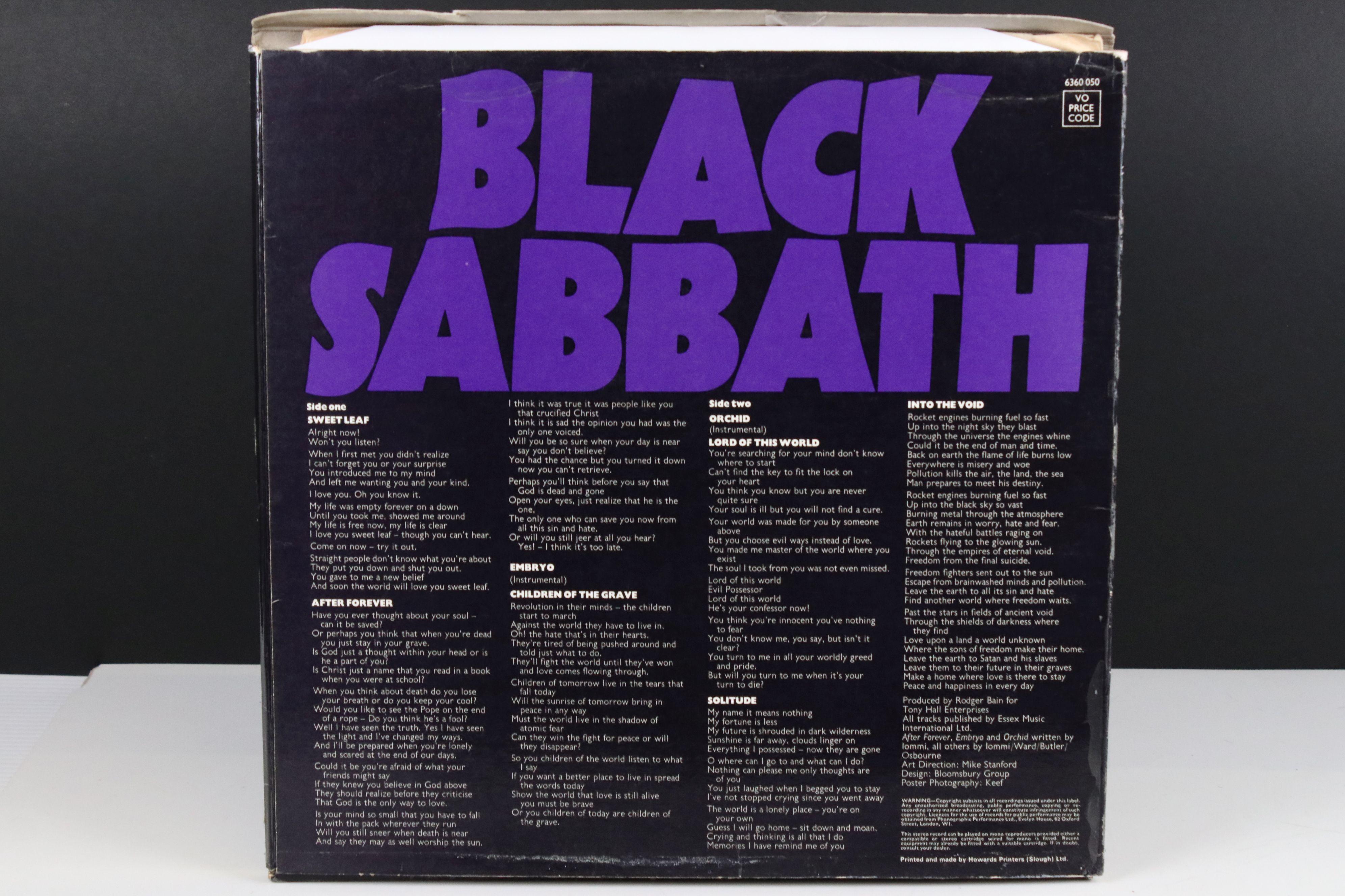 Vinyl - Black Sabbath Masters of Reality LP on Vertigo 6360050, box cover, no poster, Vertigo - Image 6 of 6