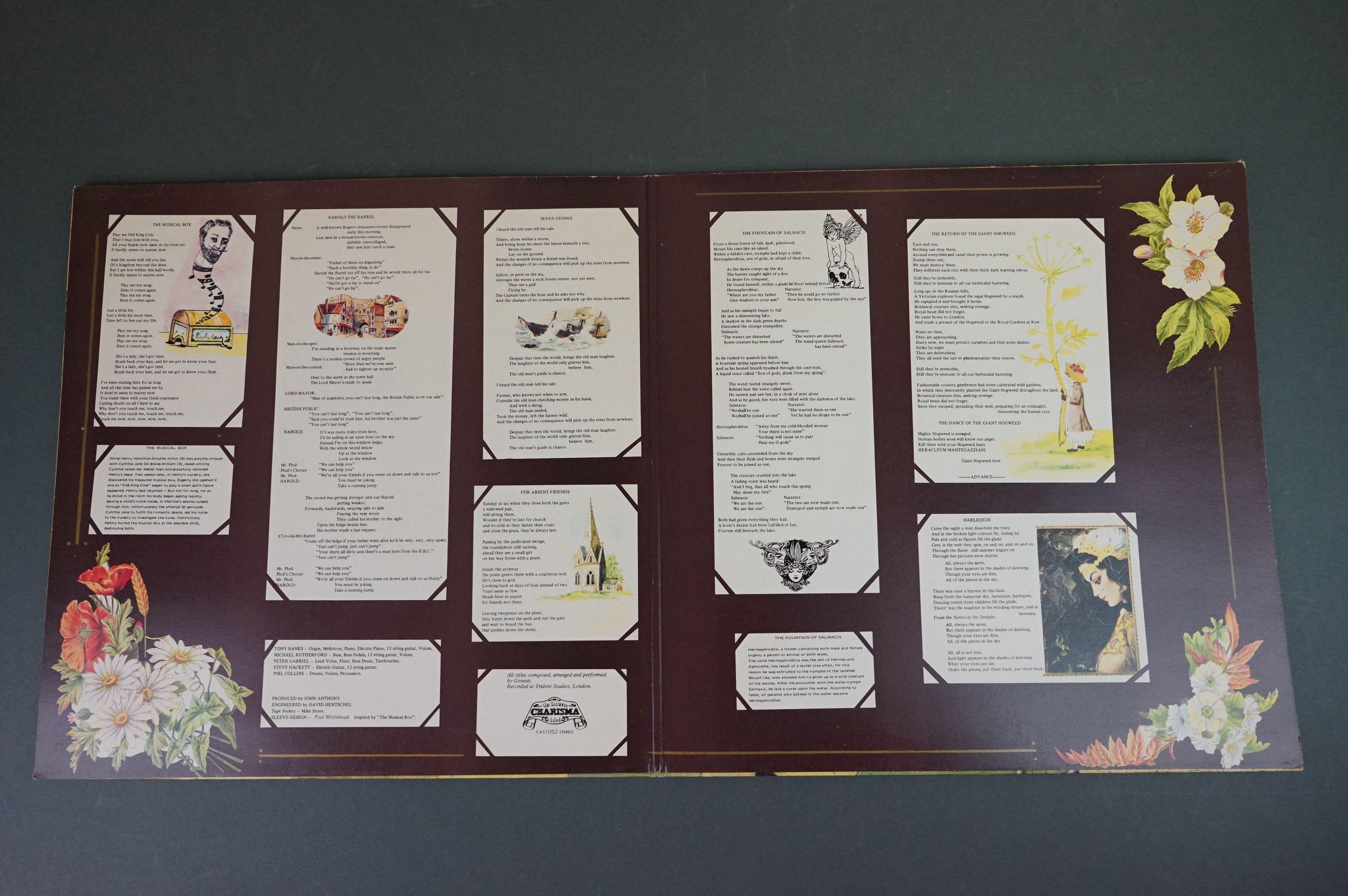 Vinyl - Five Genesis LPs to include Trespass (CAS1020), Nursery Cryme (CAS1052), Foxtrot ( - Image 5 of 9