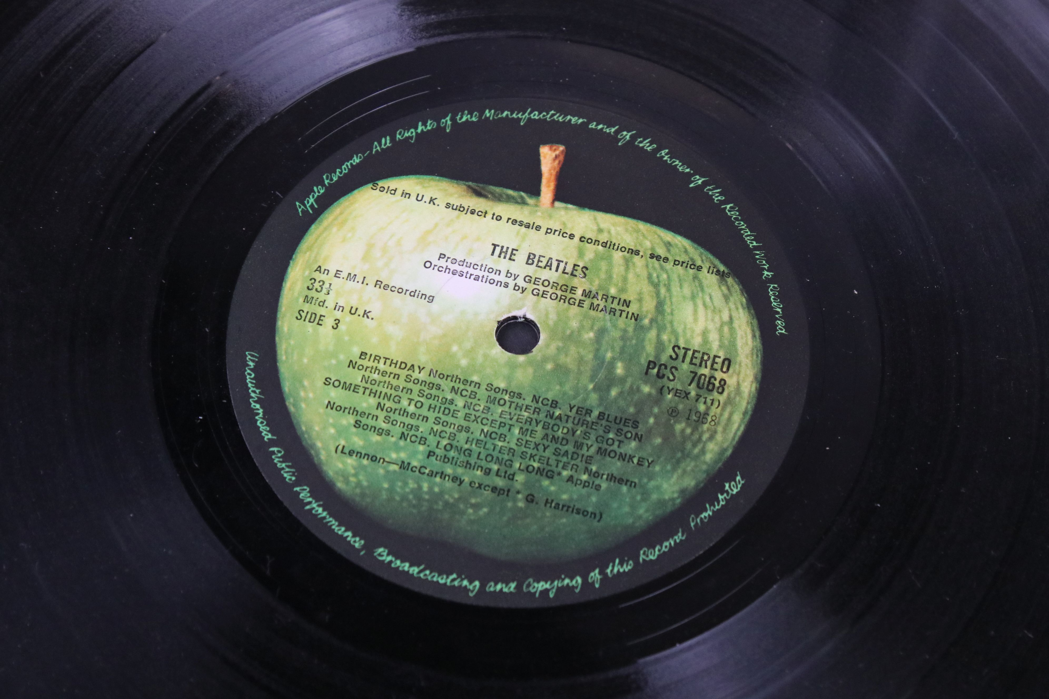Vinyl - The Beatles White Album LP mono PMC7067-8, numbered 0001376 with 8 x coloured prints and - Image 4 of 10
