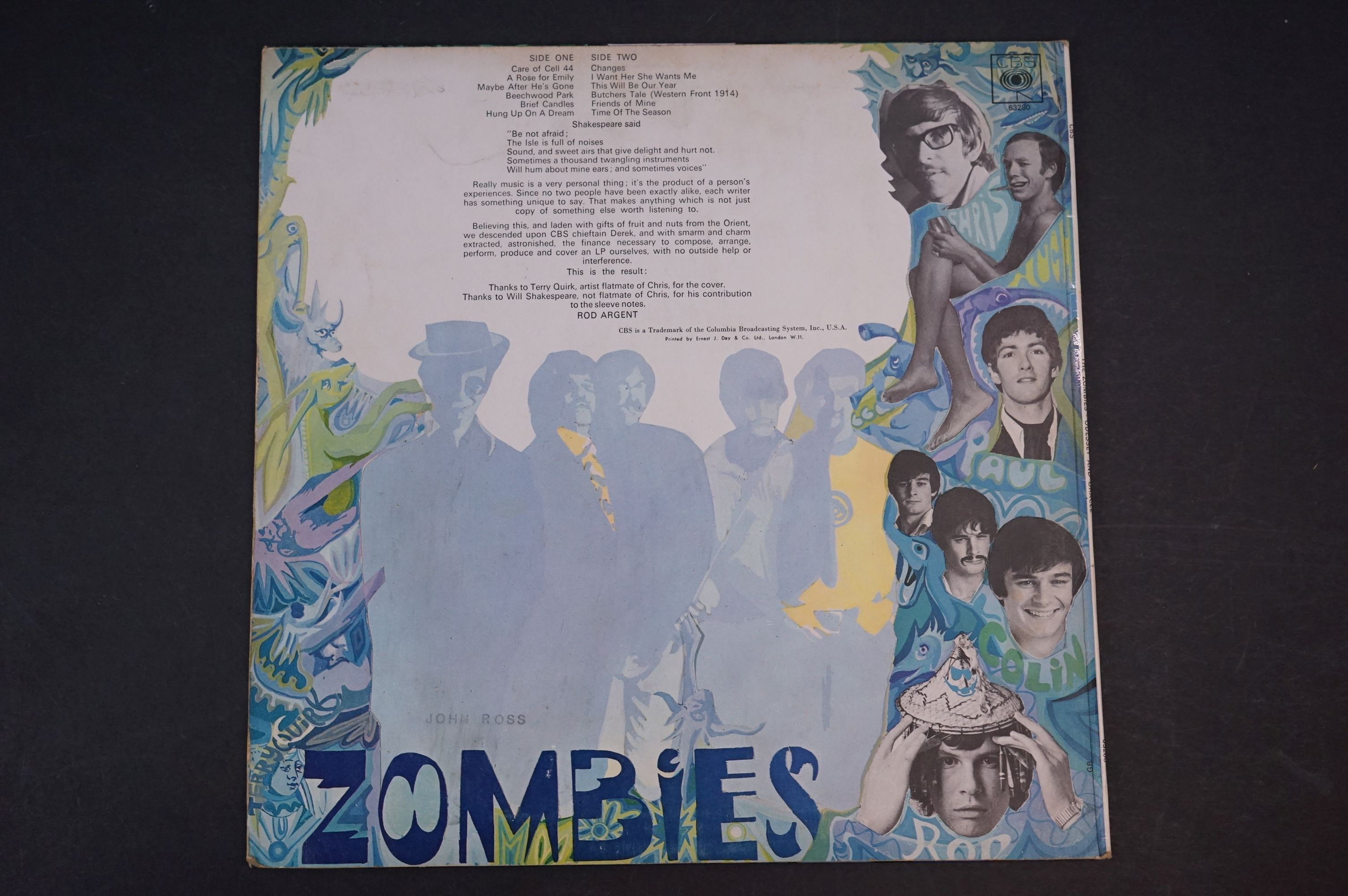 Vinyl - The Zombies Odessey and Oracle on CBS SBPG63280 Stereo, 1968, with CBS Inner sleeve, vinyl - Image 2 of 5