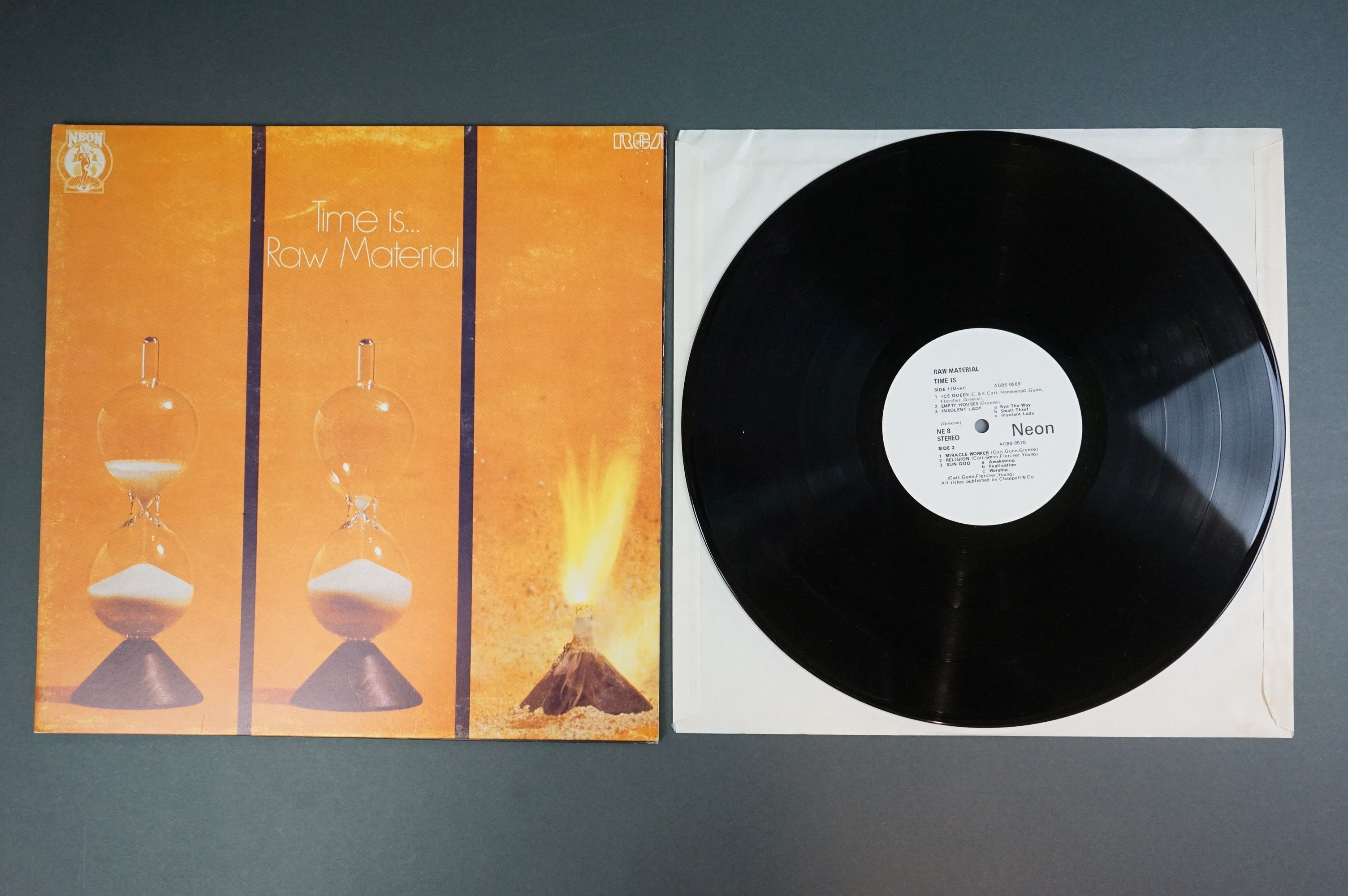 Vinyl - Two unofficial Raw Materials release LPs to include Time Is (NE8) and self titled (Z1006), - Image 2 of 6