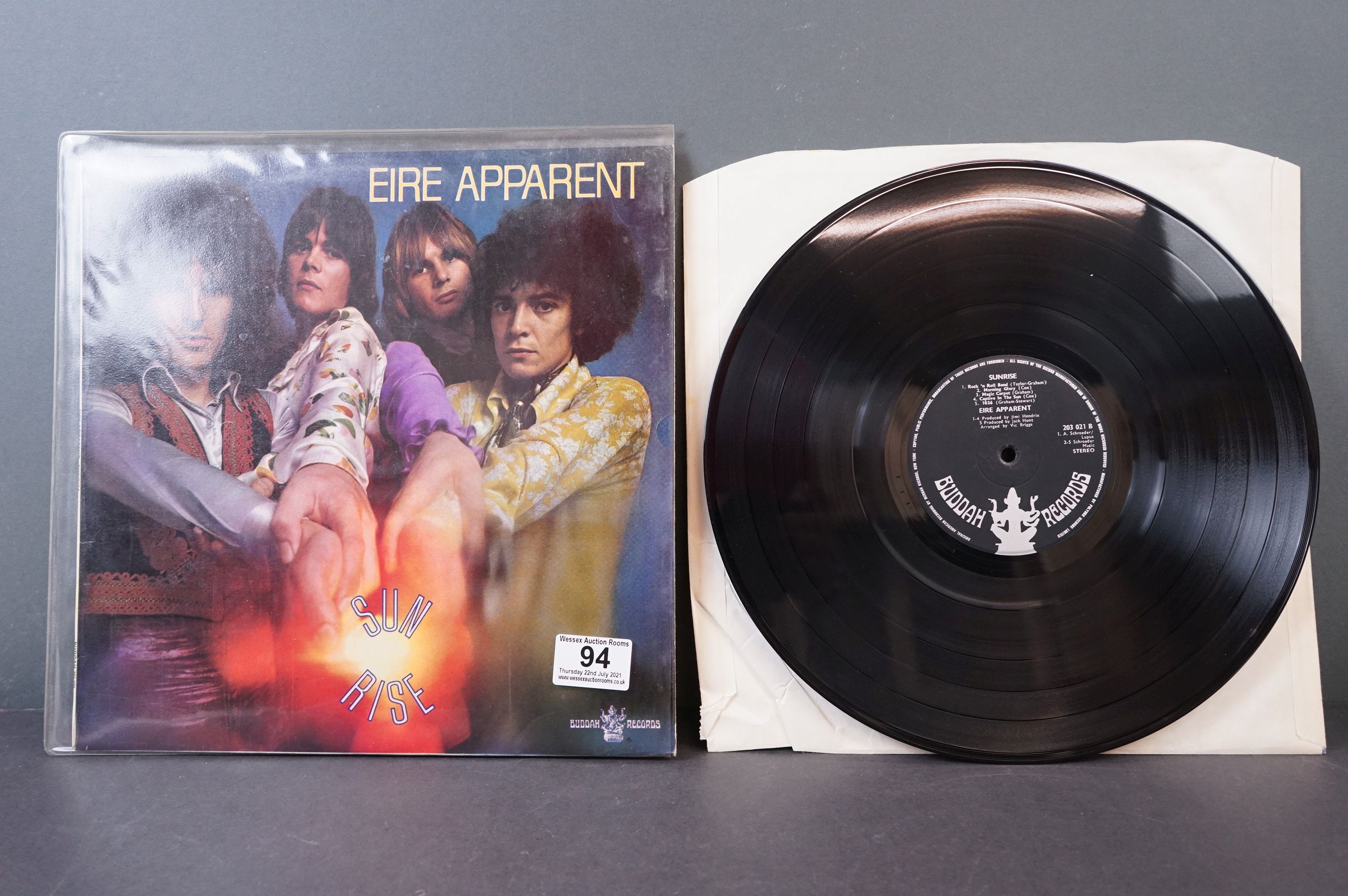 Vinyl - Psych - Eire Apparent - Sunrise (UK 1969,?Buddha Records) Produced by Jimi Hendrix vg+ - Image 2 of 4