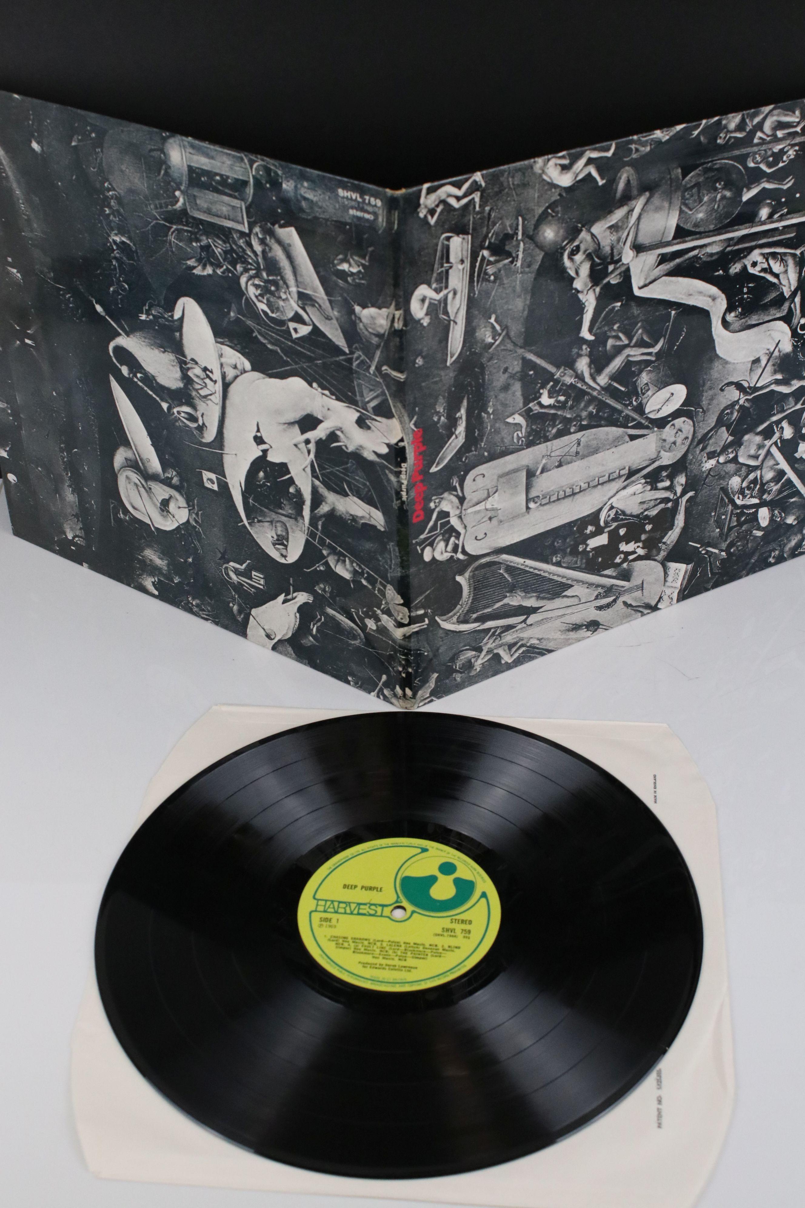 Vinyl - Deep Purple self titled (Harvest SHVL 759) no EMI on label, EMI and Harvest on front sleeve, - Image 2 of 5