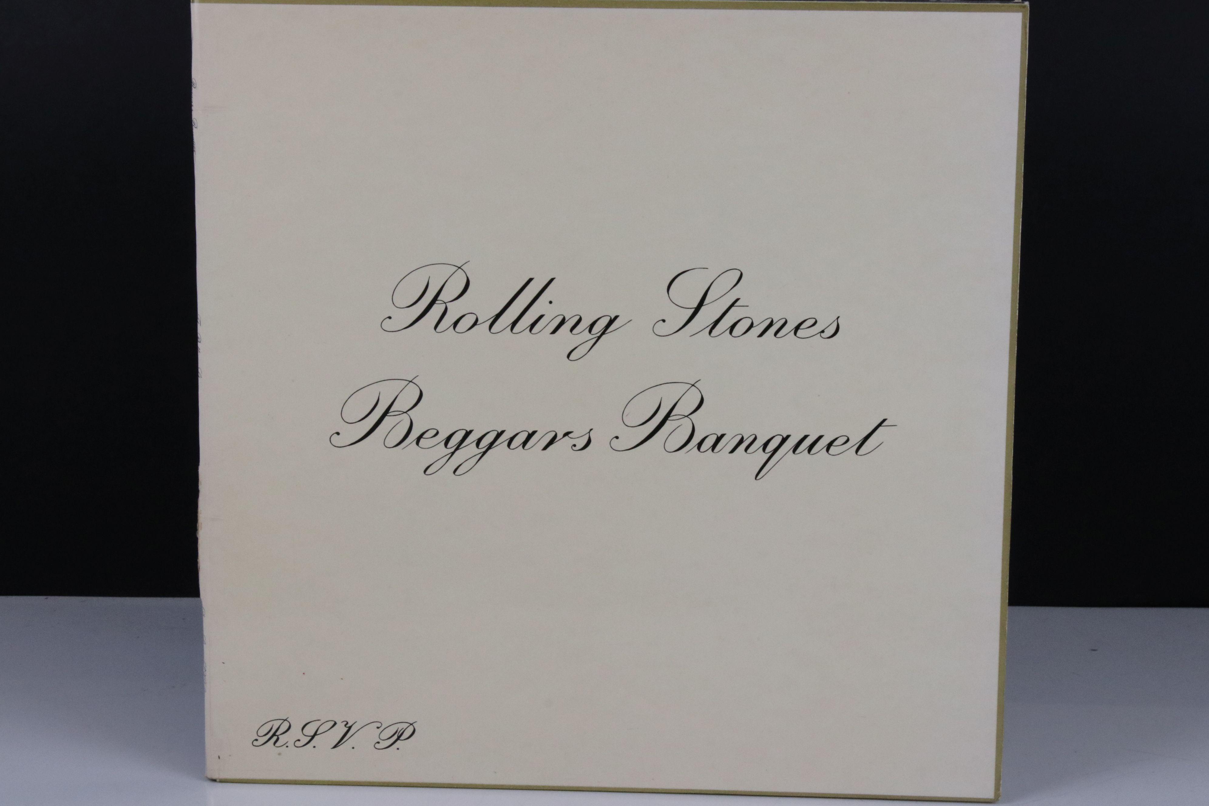 Vinyl - The Rolling Stones Beggars Banquet (SKL 4955) blue Decca label, Mirage Music, titles