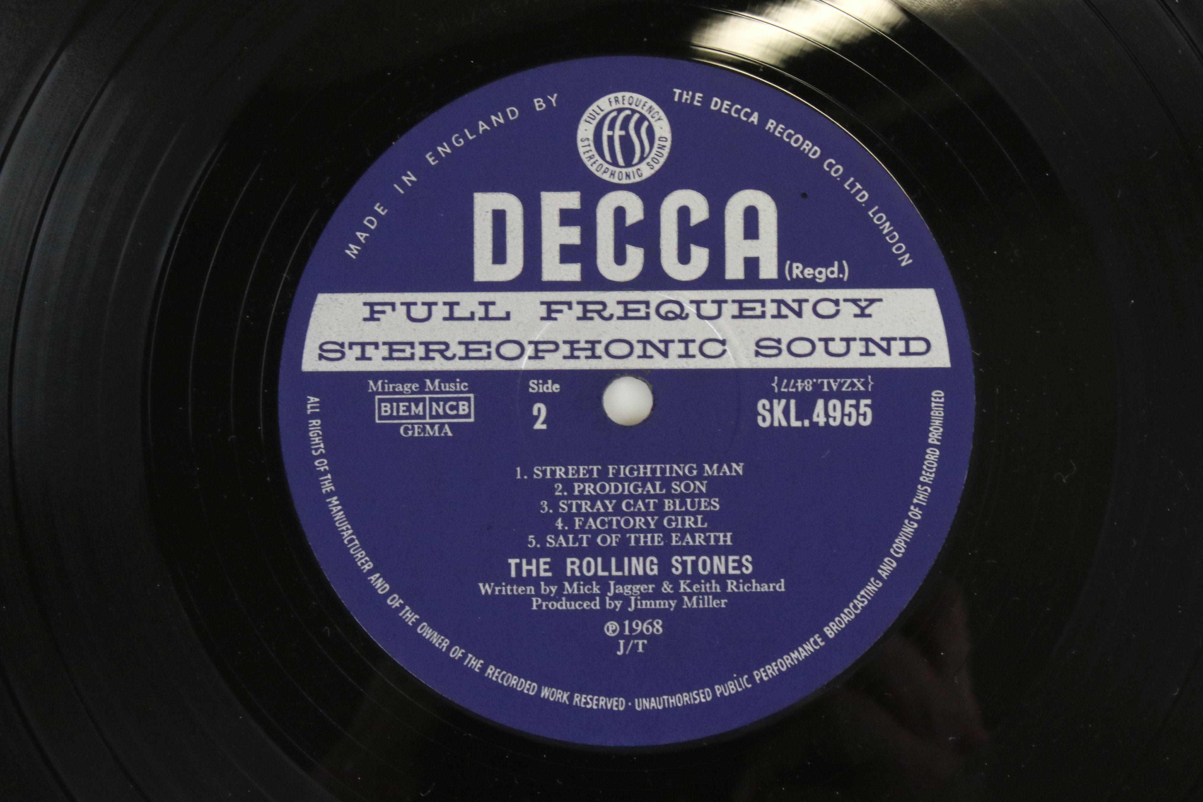 Vinyl - The Rolling Stones Beggars Banquet (SKL 4955) blue Decca label, Mirage Music, titles - Image 4 of 6