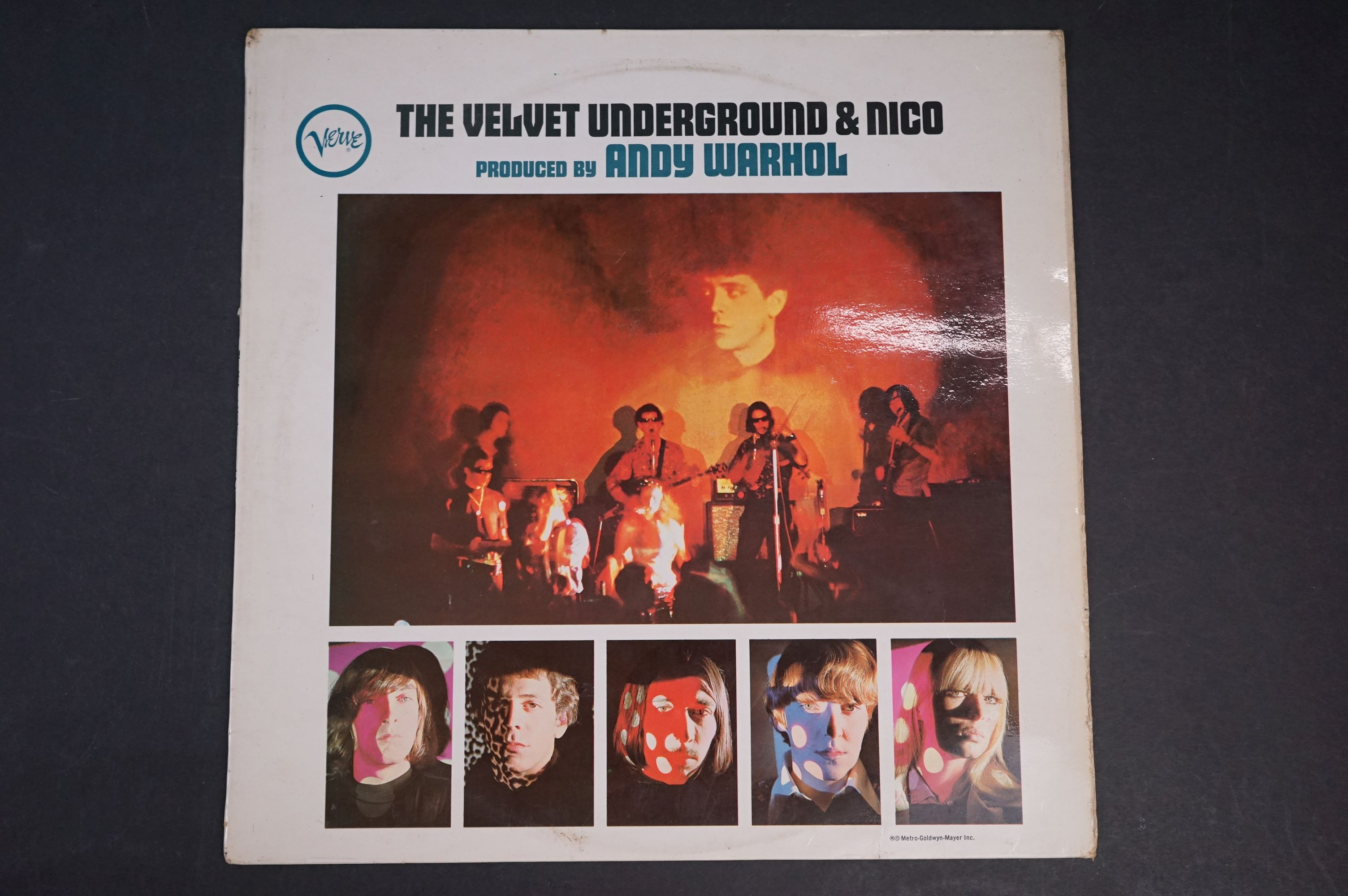 Vinyl - The Velvet Underground & Nico produced by Andy Warhol LP on Verve VLP9184 mono, non banana
