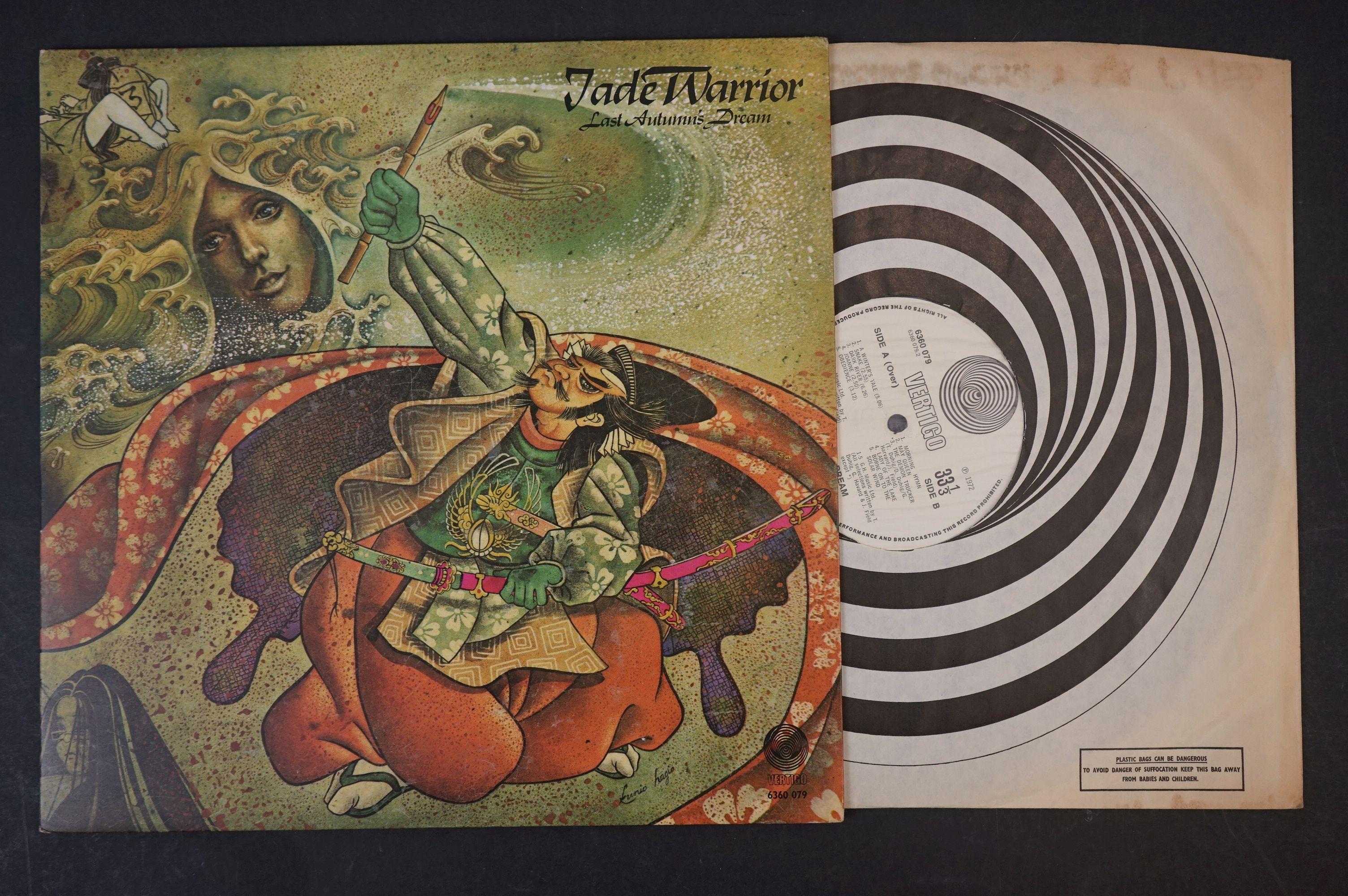 Vinyl - Four Jade Warrior LPs to include Last Autumn Dream LP on Vertigo Deluxe 6360079 gatefold - Image 7 of 9
