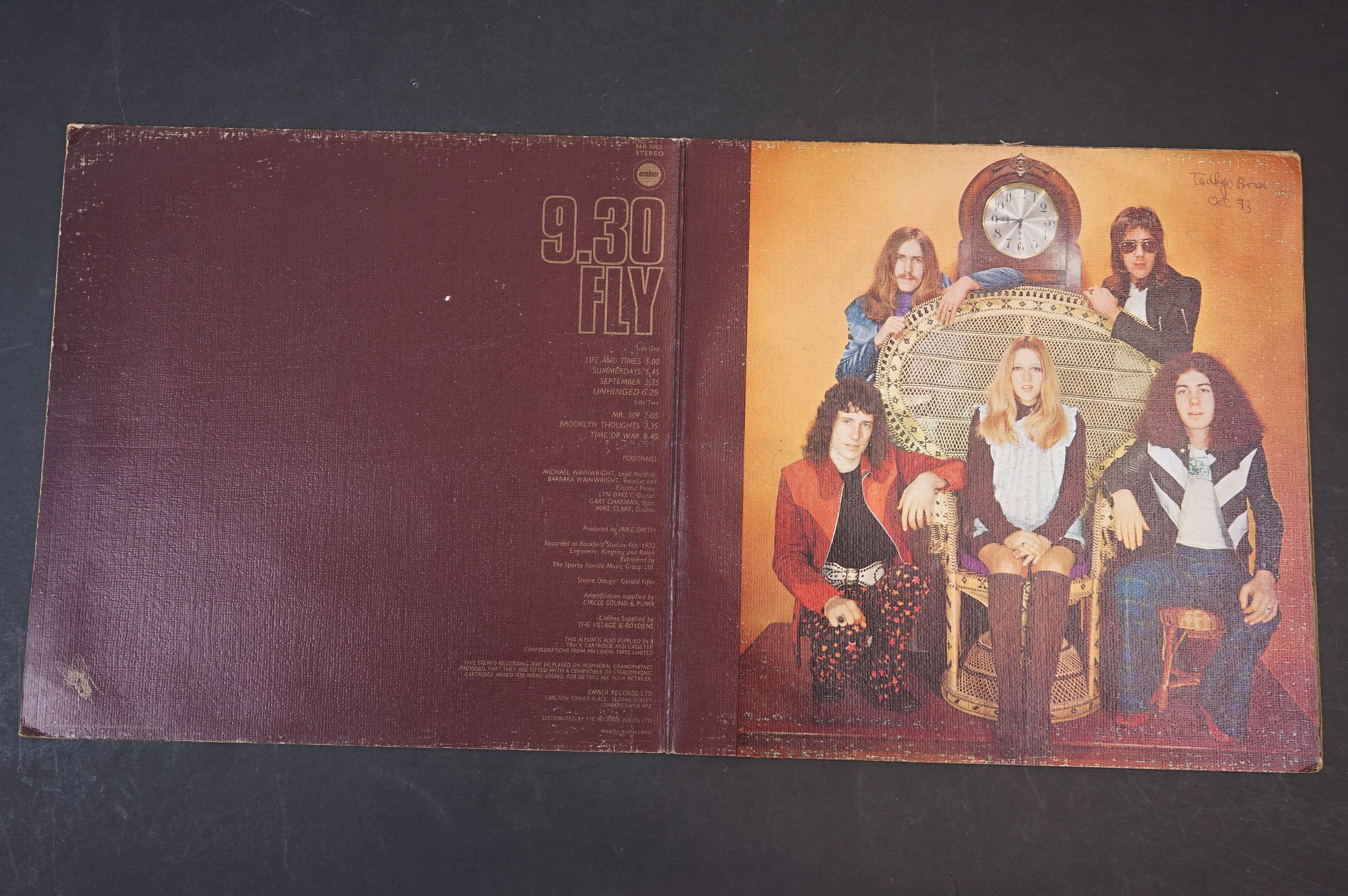 Vinyl - 9.30 Fly self titled LP on Ember NR5062 stereo, textured gatefold sleeve, writing to - Image 2 of 7