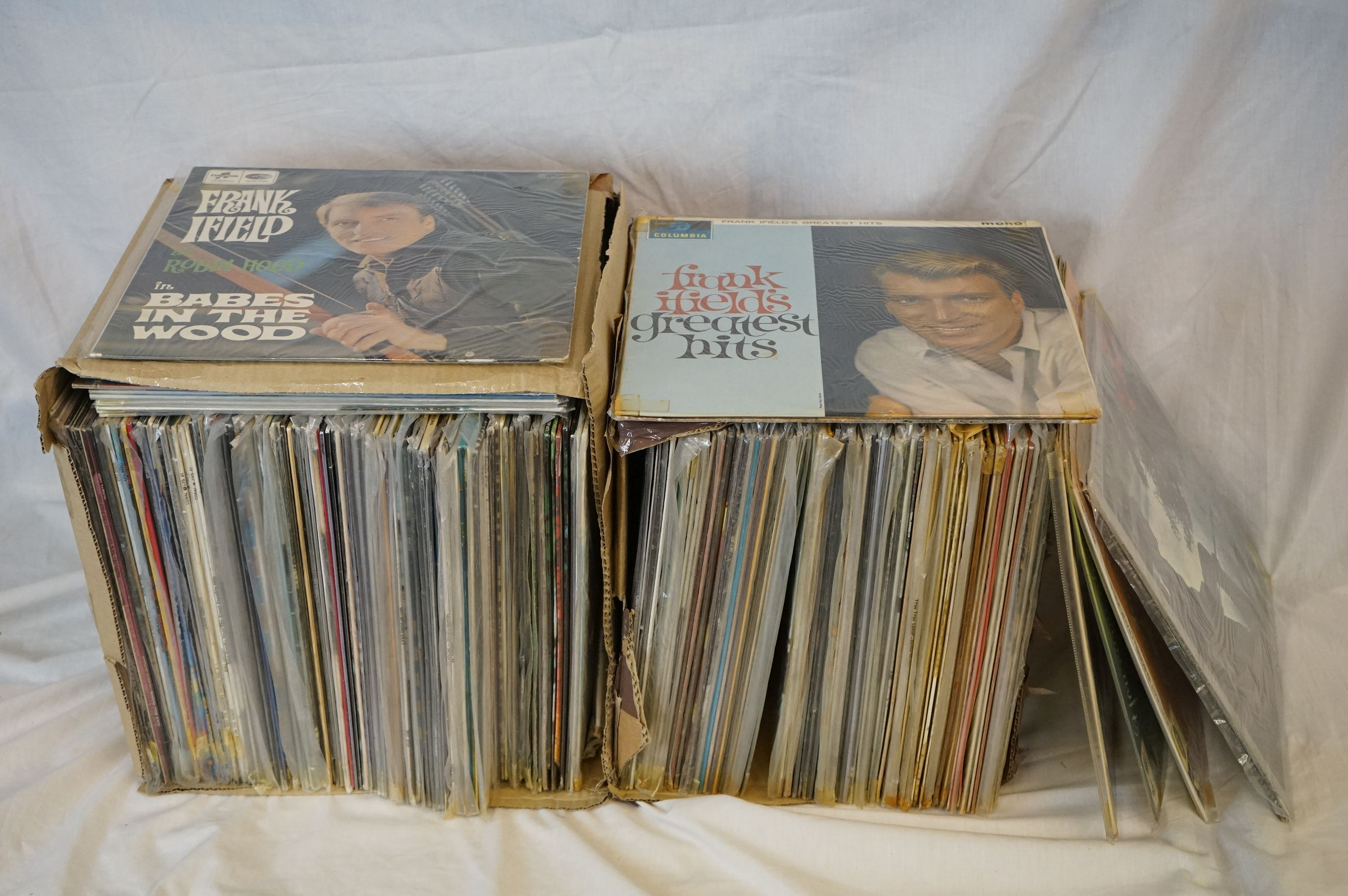 Vinyl - Over 100 LP's spanning genres and decades including lots of country artists. Condition