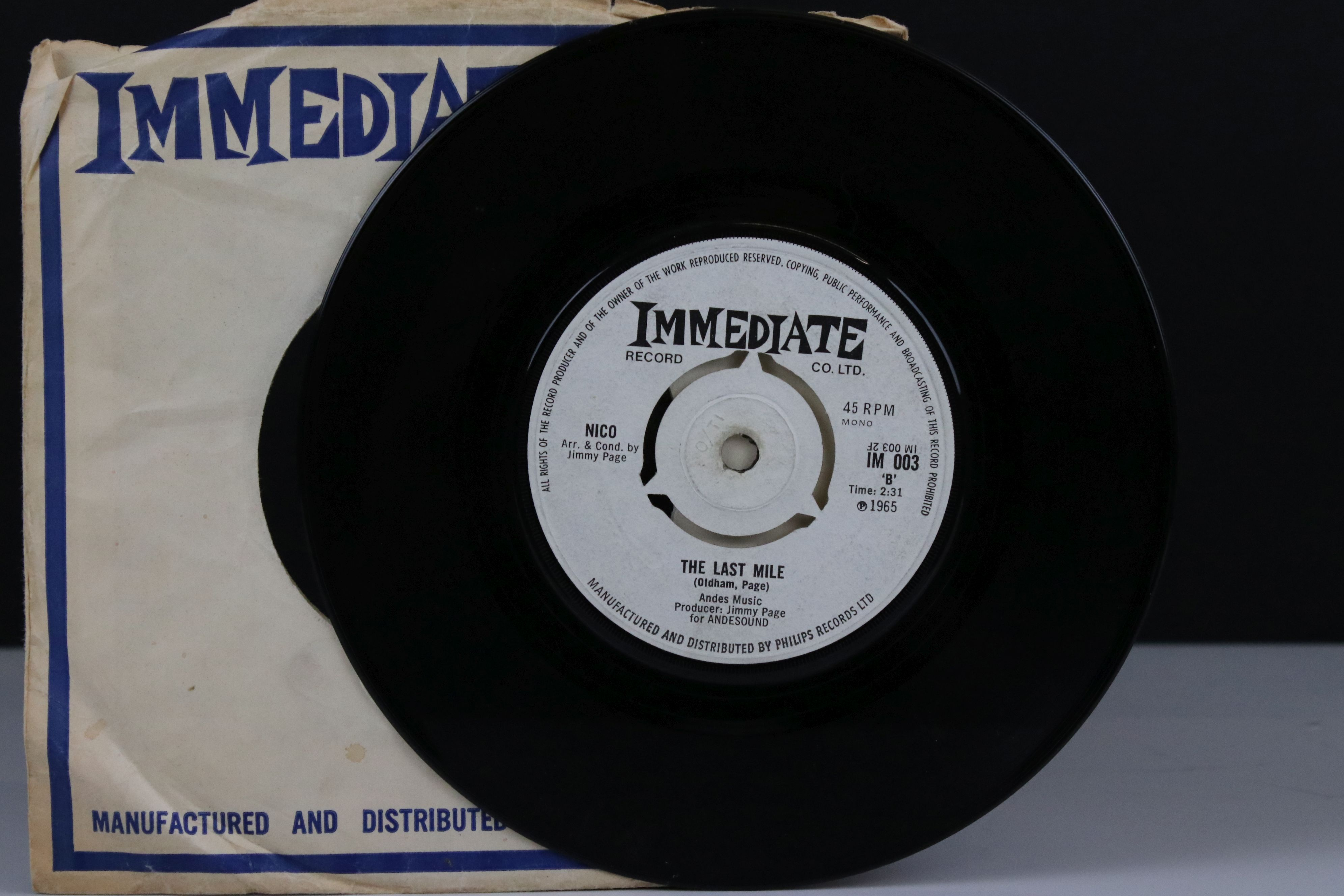 Vinyl - Nico I'm Not Sayin / The Last Mile 45 on Immediate IM003 in company sleeve, vg - Image 3 of 5