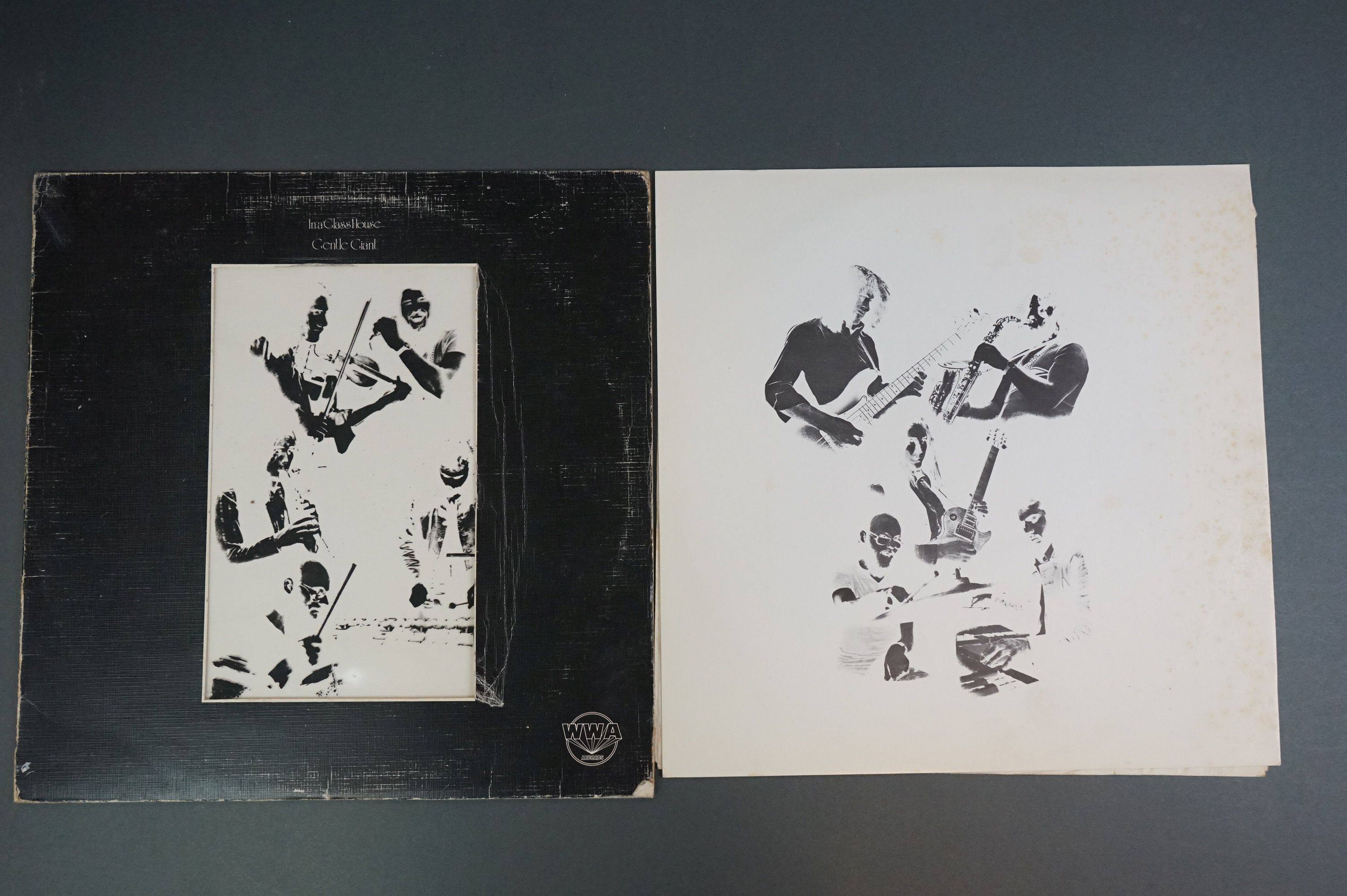 Vinyl - Two Gentle Giant LPs to include In A Glasshouse WWA002 Photograph card and printed inners, - Image 3 of 10