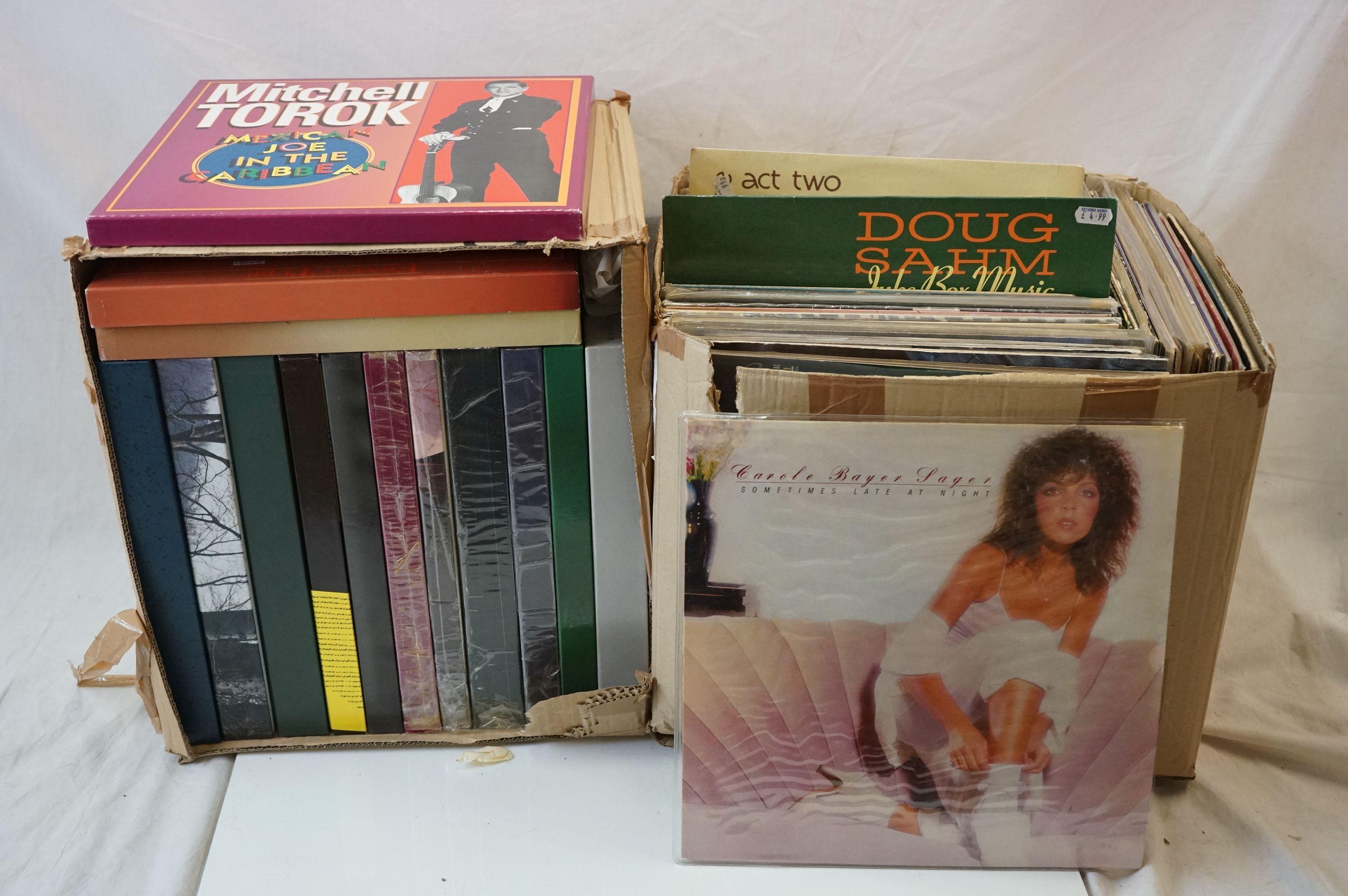 Vinyl - Around 130 LPs and 14 Box Sets to include Charlie Wiseman, Mac Wiseman, Slim Whitman etc (