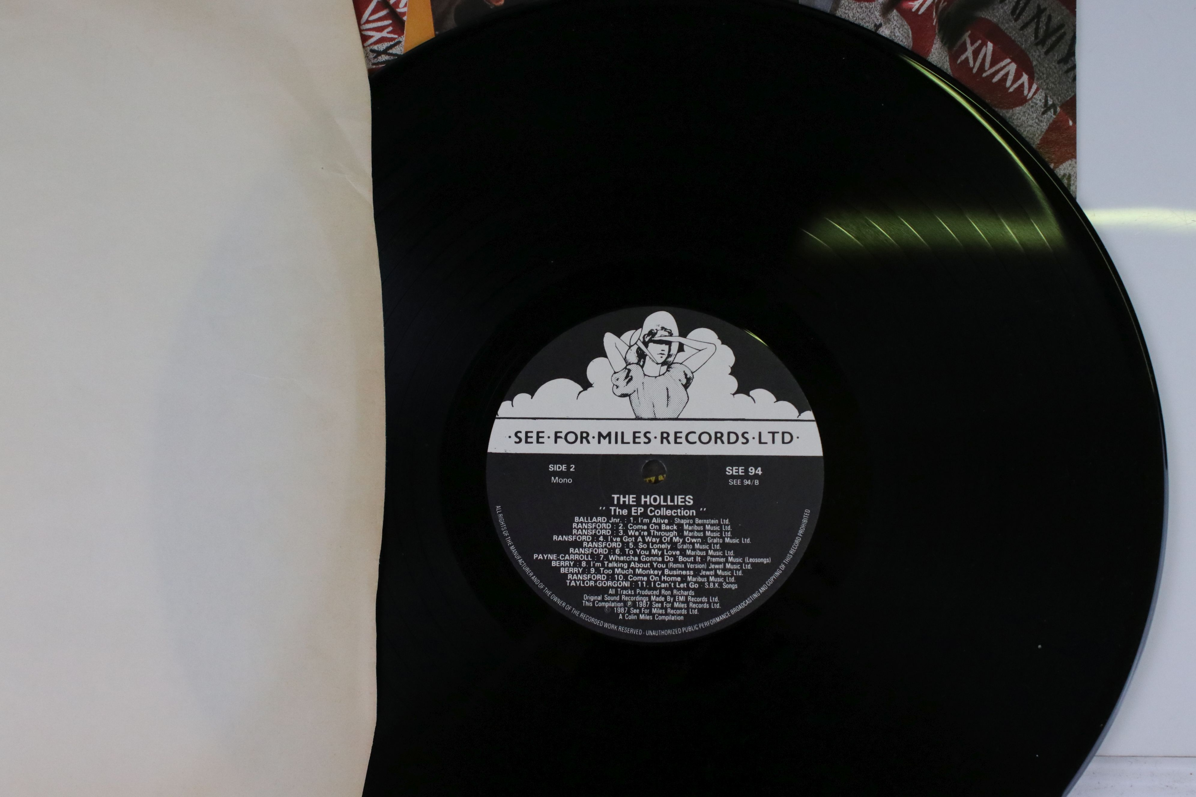 Vinyl - Three LPs on See For Miles Records to include The Hollies EP Collection SEE94, Gerry and the - Image 3 of 5