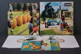 Vinyl - Oasis Be Here Now 2 LP on Creation CRELP219, sleeve ex, vinyl vg+ with a couple of marks