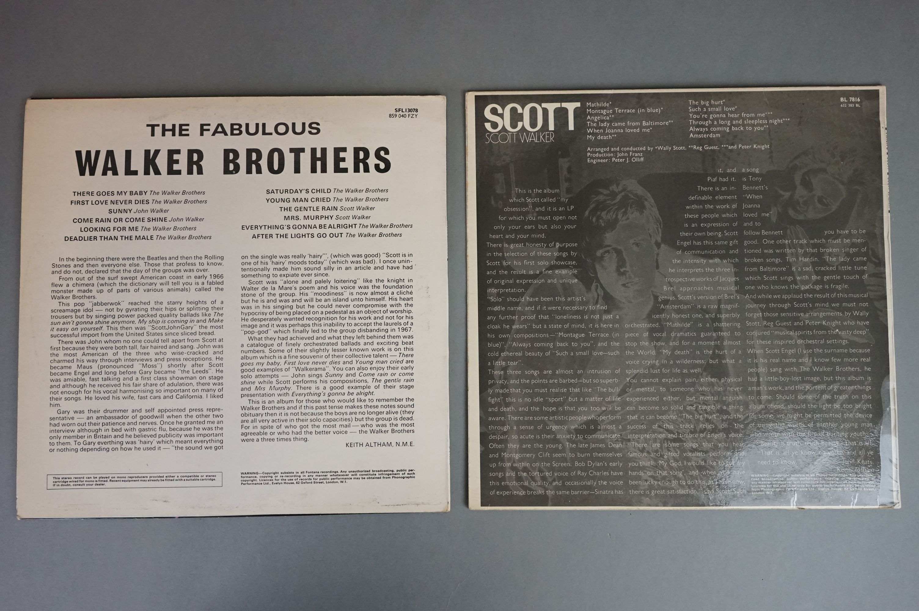 Vinyl - Five Walker Brothers vinyl LP's to include Scott (Phillips Records BL 7816), The Fabulous - Image 4 of 10