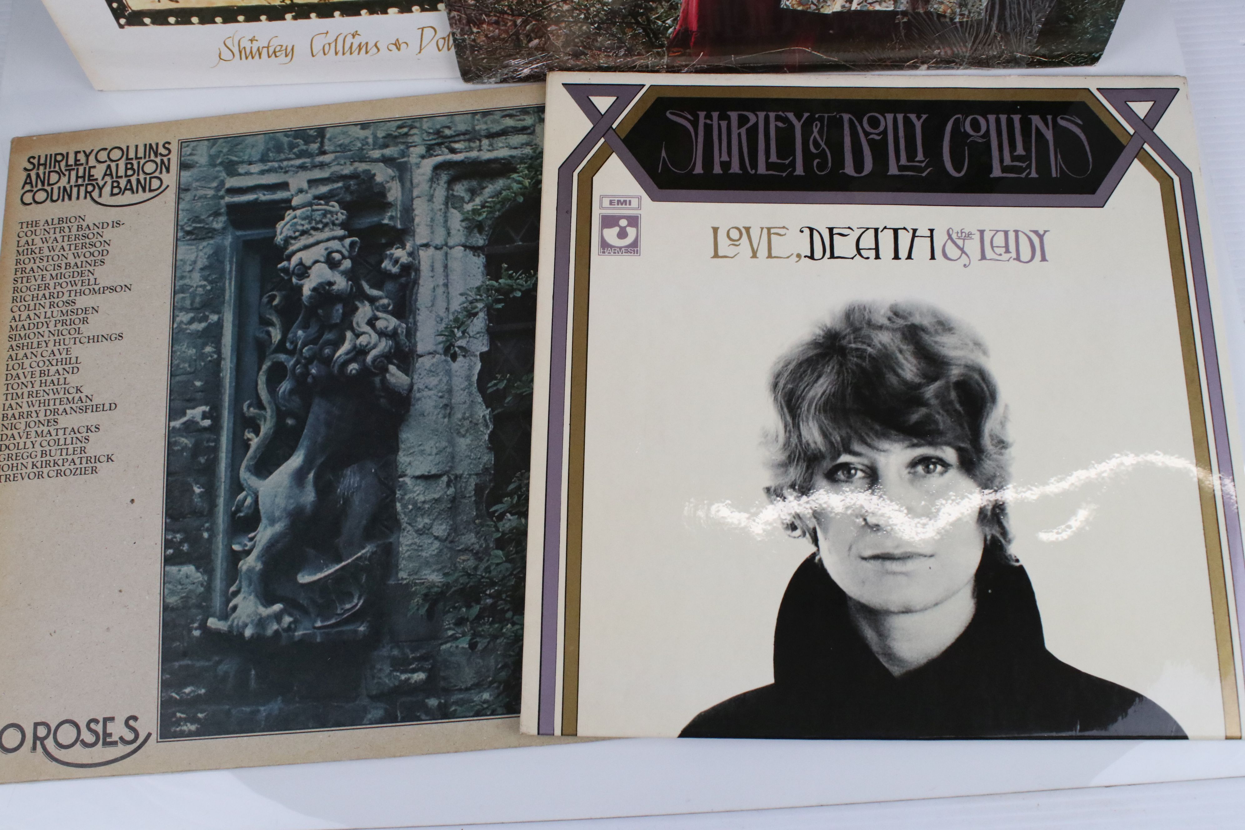 Vinyl - Shirley & Dolly Collins 4 LP's to include Love, Death & The Lady (SHVL 771) sleeve VG+ vinyl - Image 2 of 5